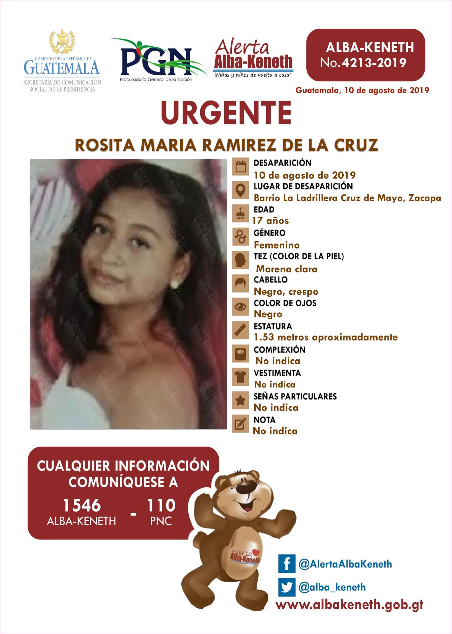Rosita Maria Ramirez de la Cruz