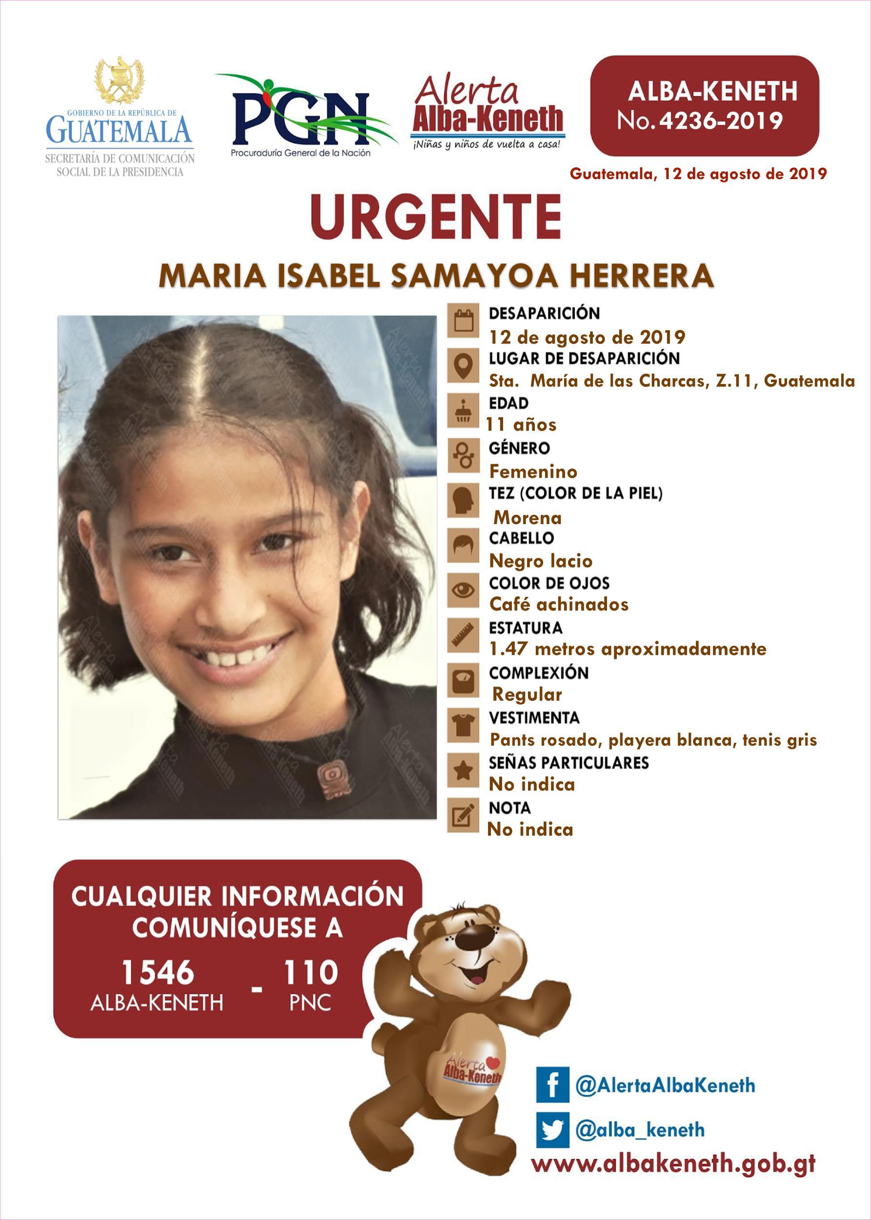 Maria Isabel Samayoa Herrera