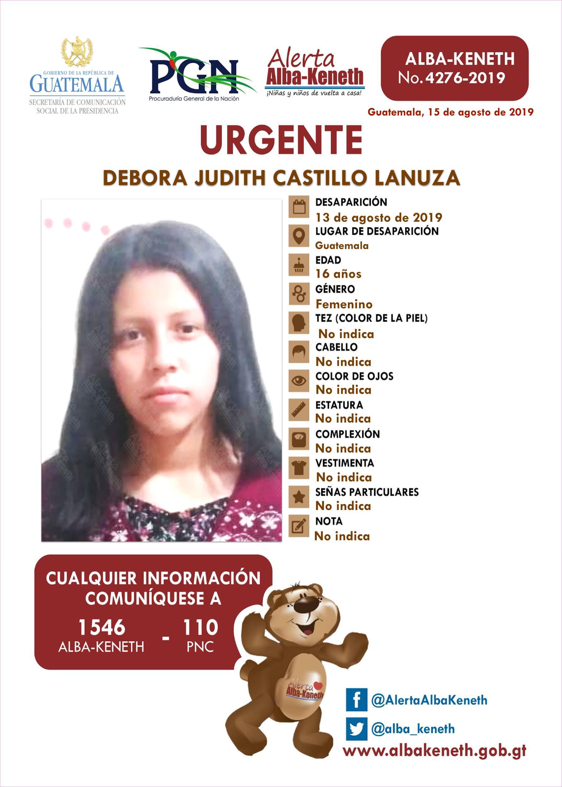 Debora Judith Castillo Lanuza