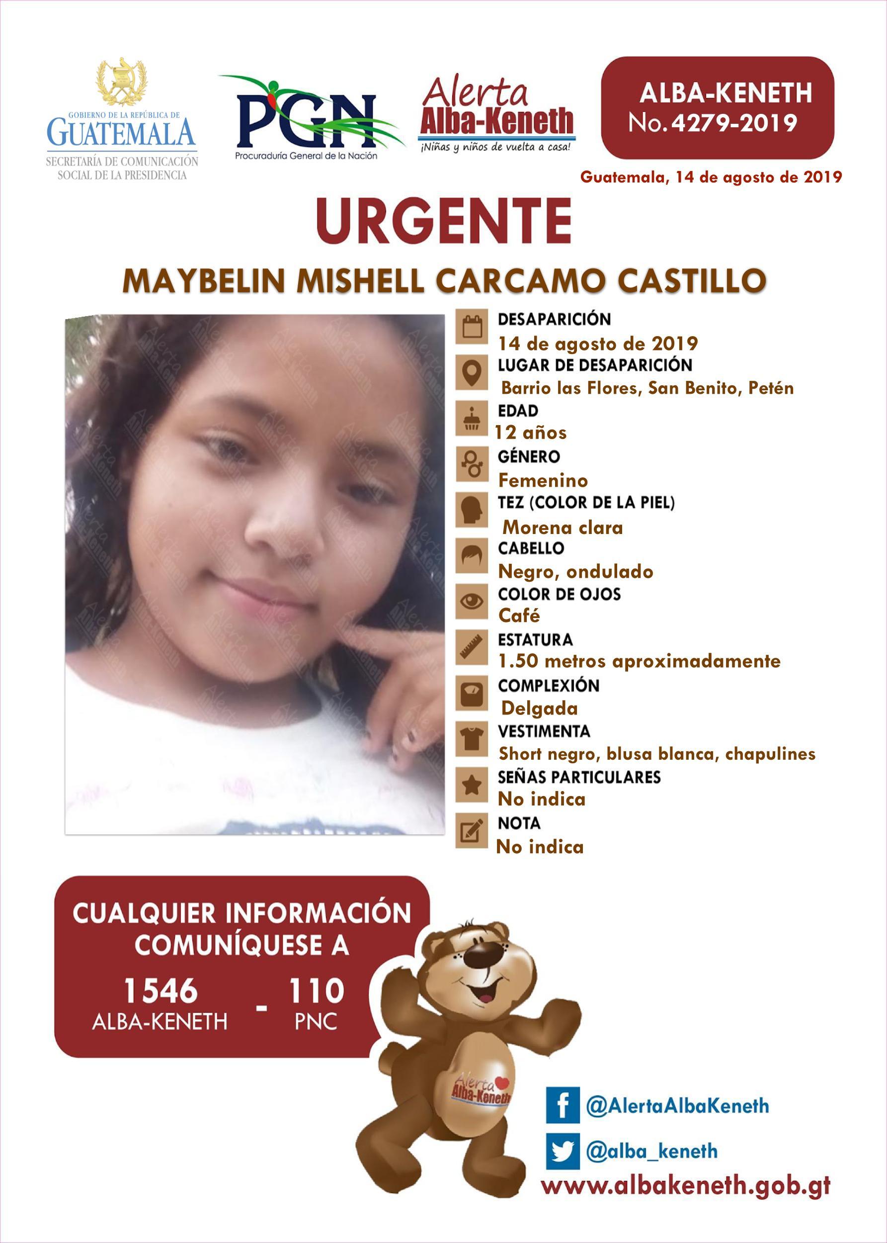 Maybelin Mishell Carcamo Castillo