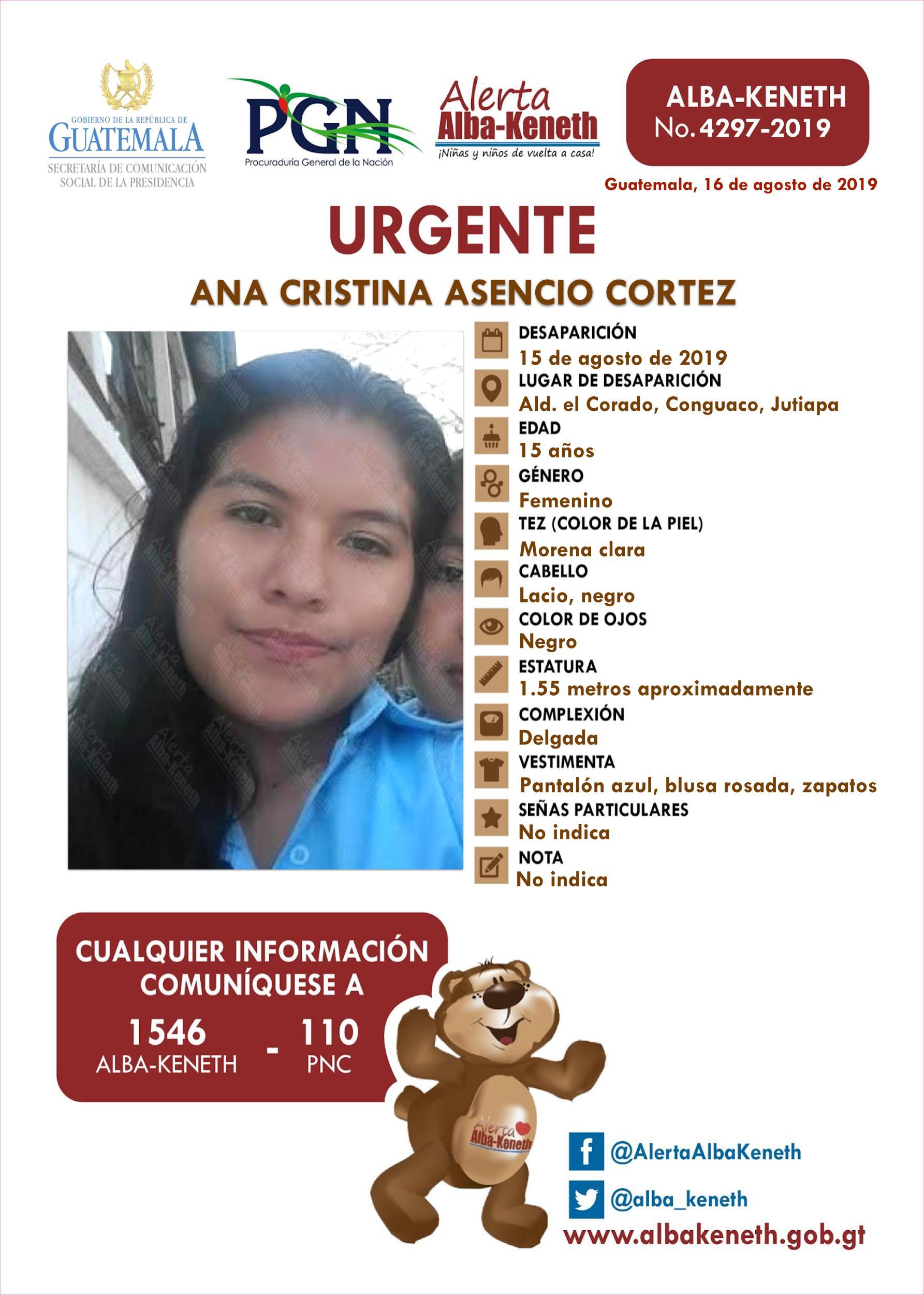 Ana Cristina Asencio Cortez