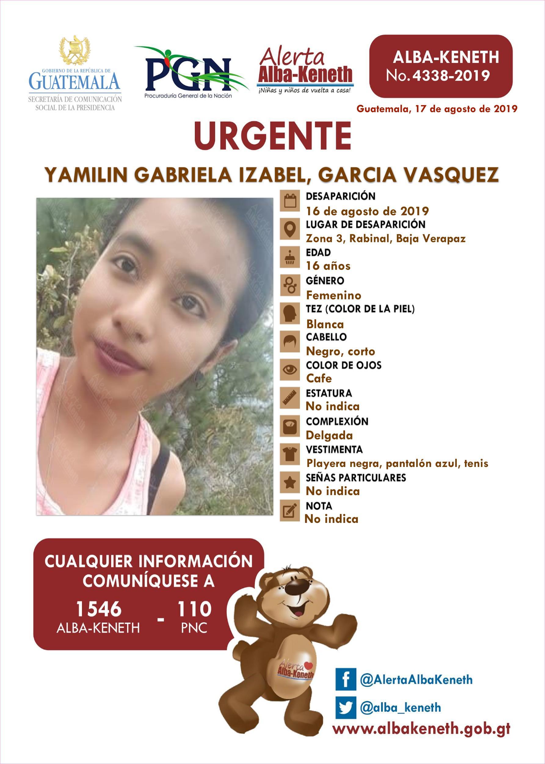 Yamilin Gabriela Izabel Garcia Vasquez