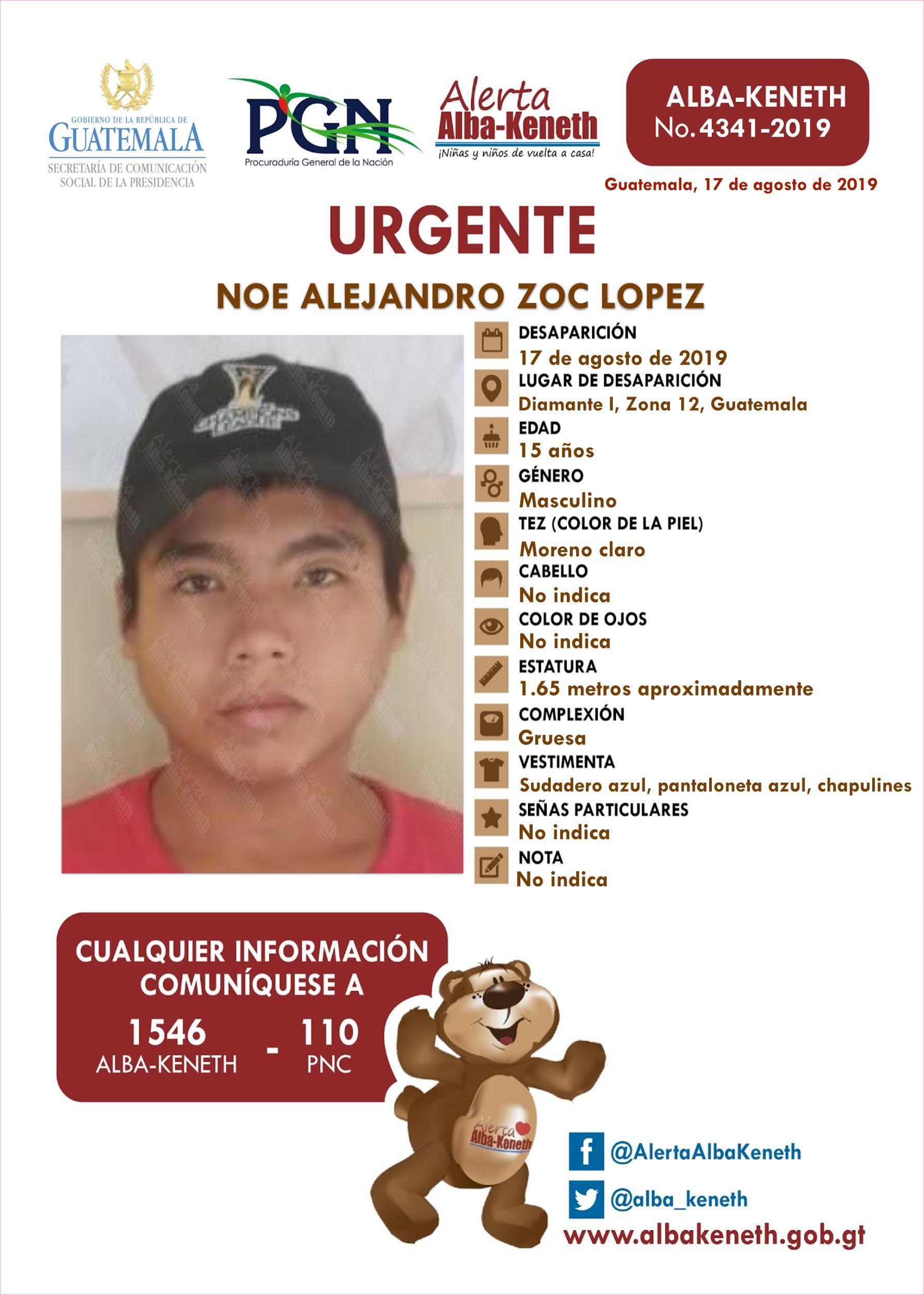 Noe Alejandro Zoc Lopez