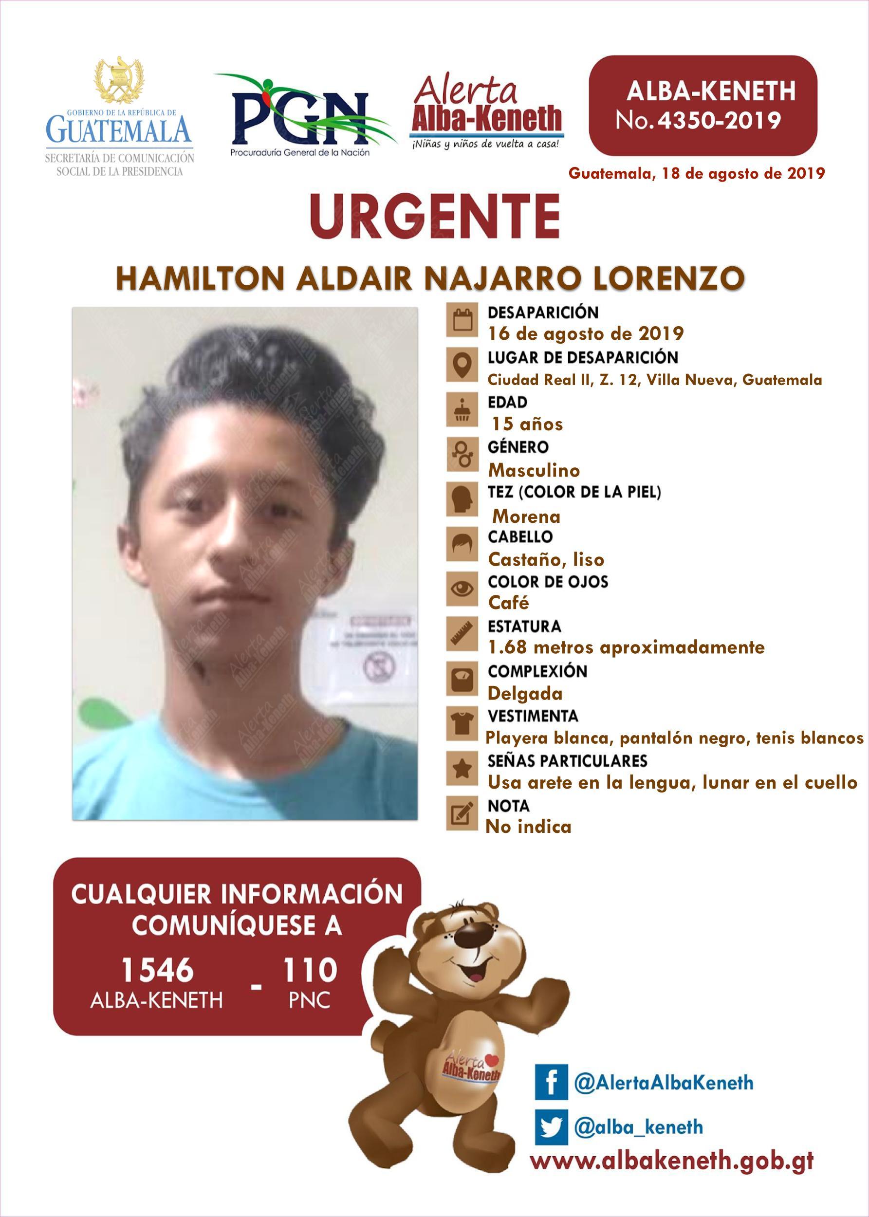 Hamilton Aldair Najarro Lorenzo