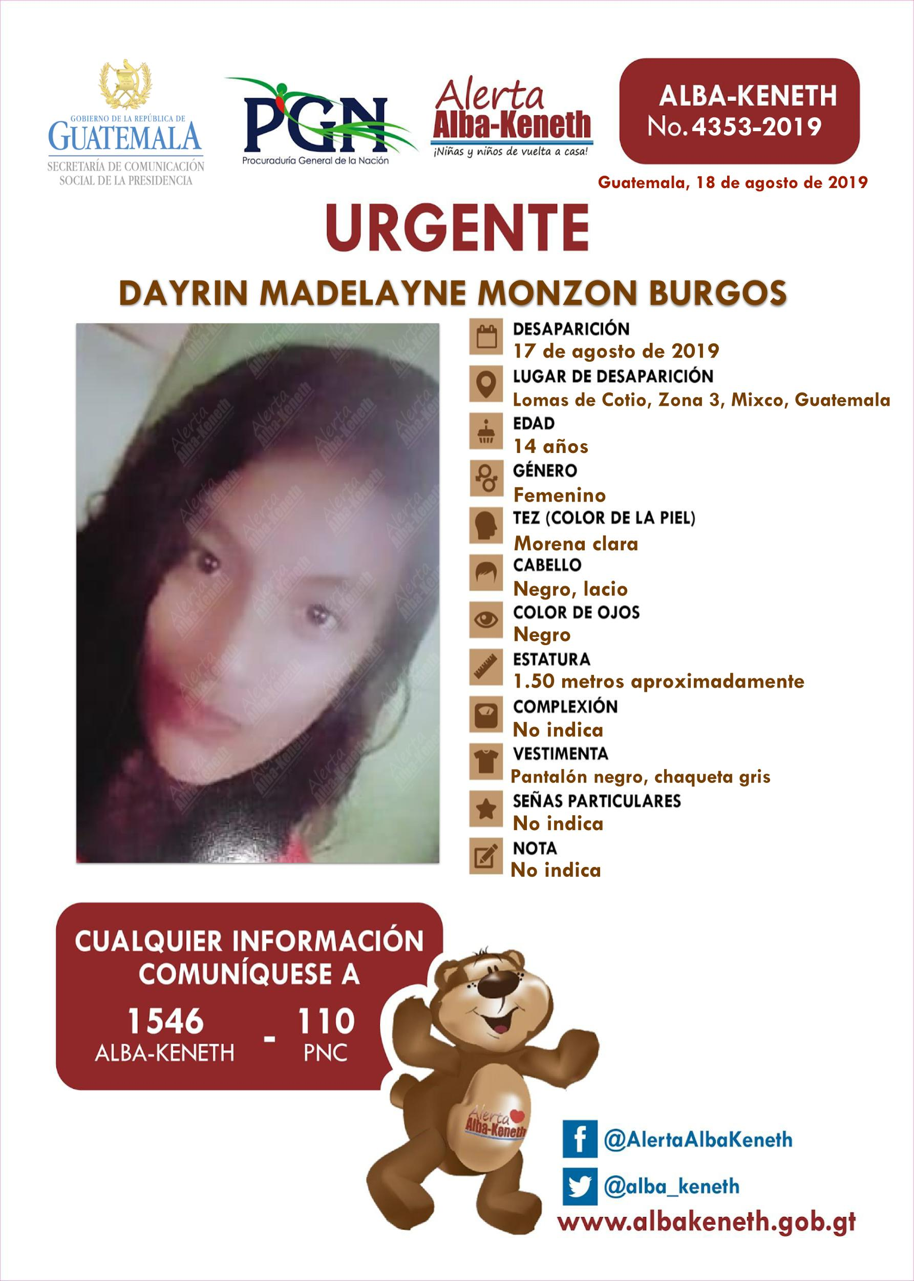 Dayrin Madelayne Monzon Burgos