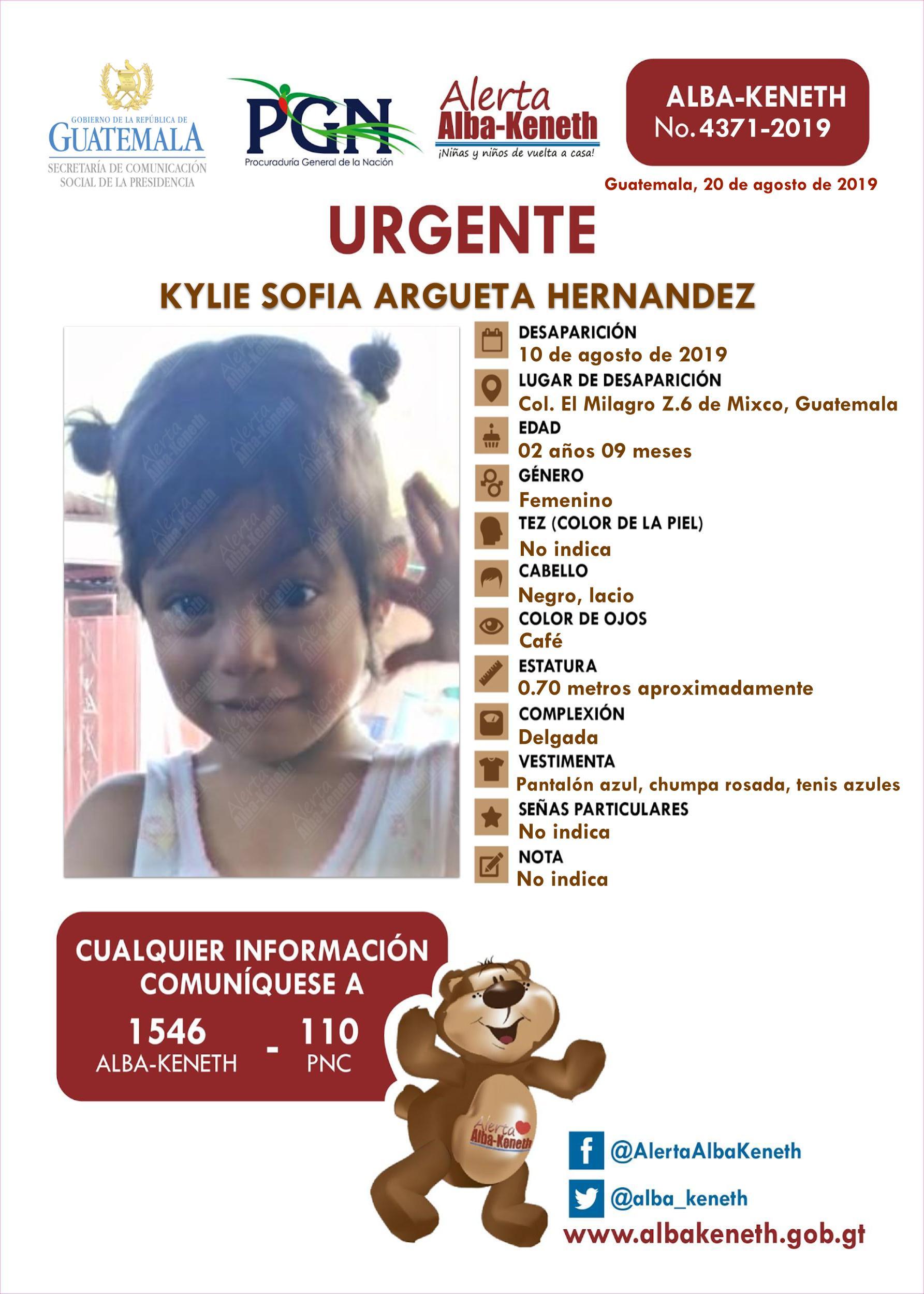 Kylie Sofia Argueta Hernandez