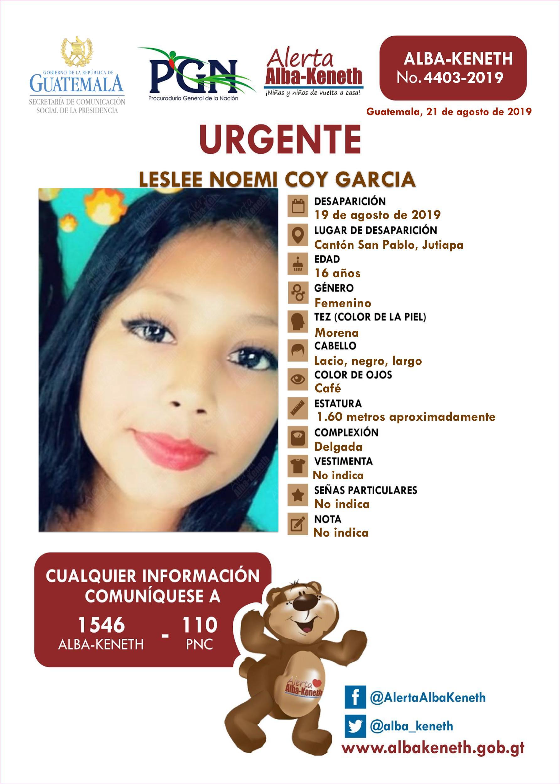 Leslee Noemi Coy Garcia