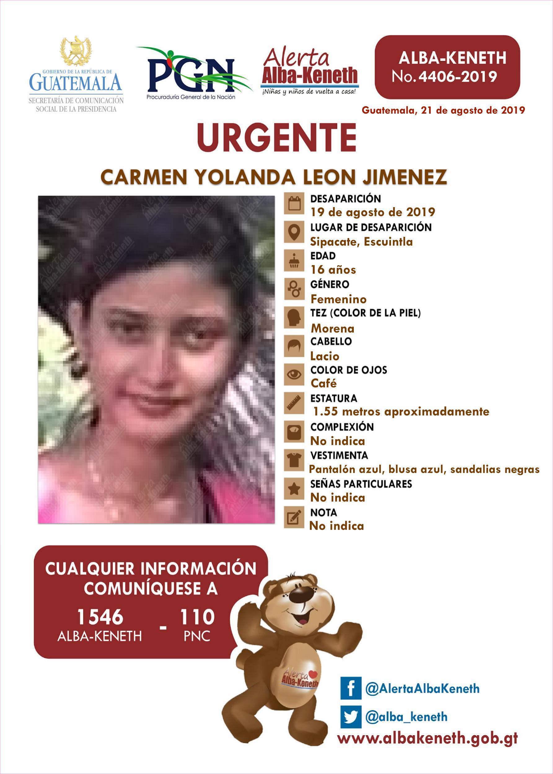 Carmen Yolanda Leon Jimenez