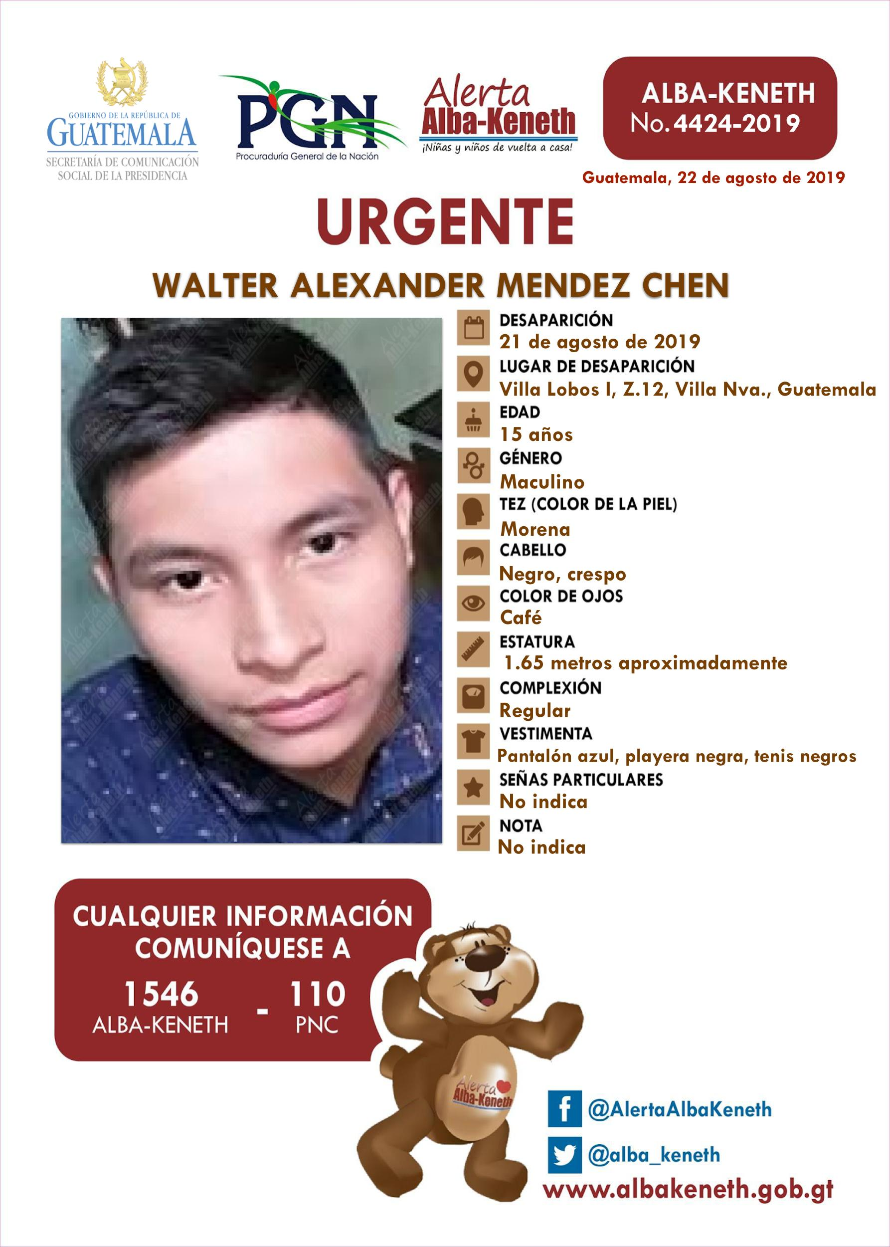 Walter Alexander Mendez Chen