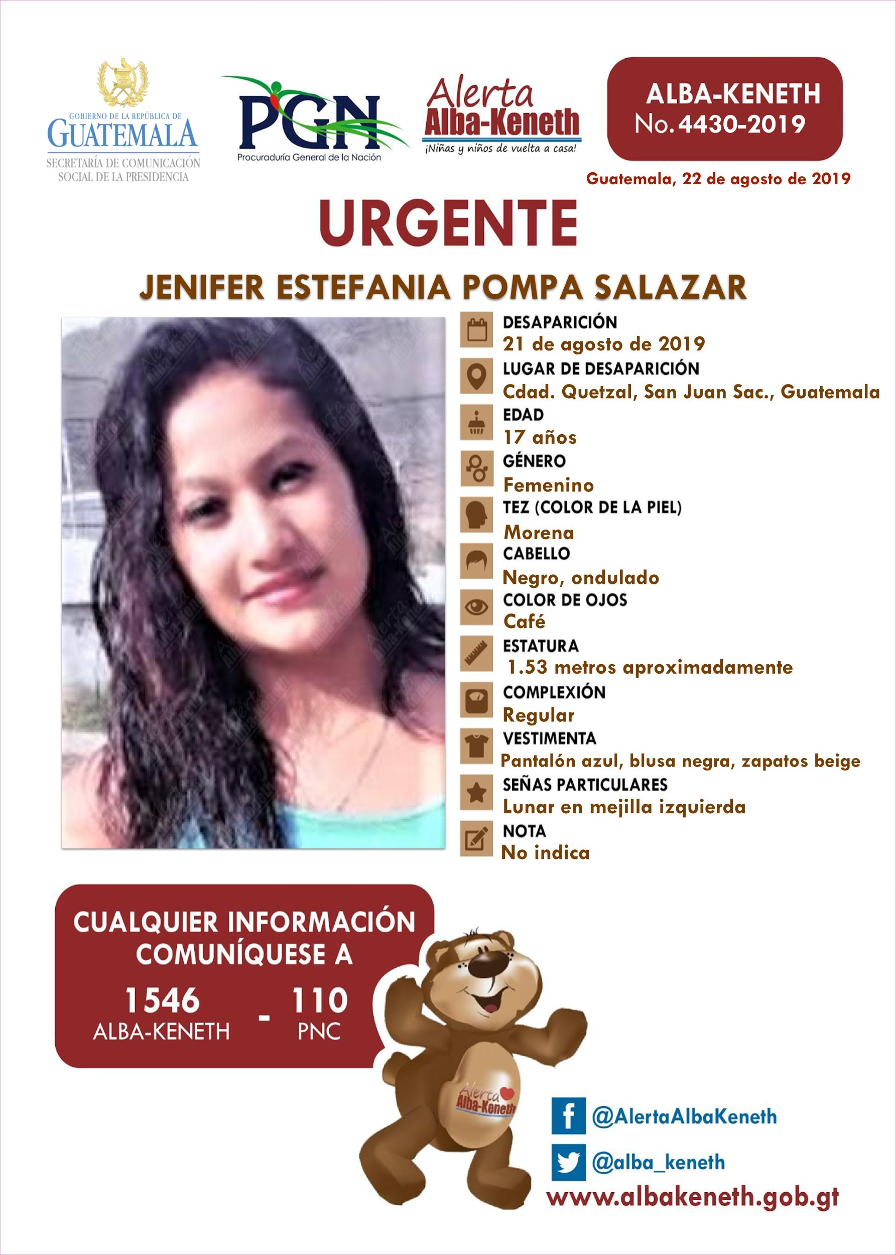 Jenifer Estefania Pompa Salazar