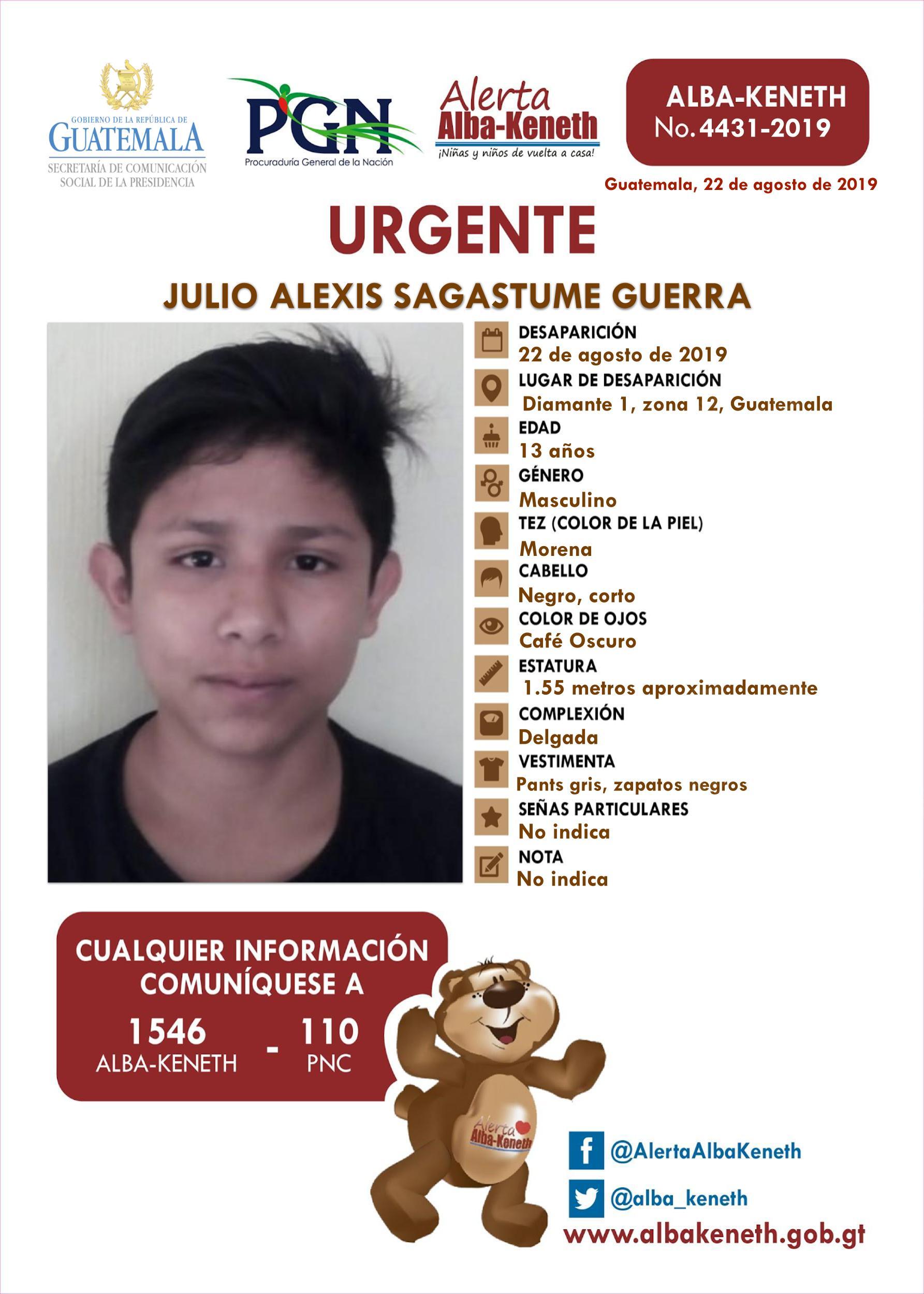 Julio Alexis Sagastume Guerra