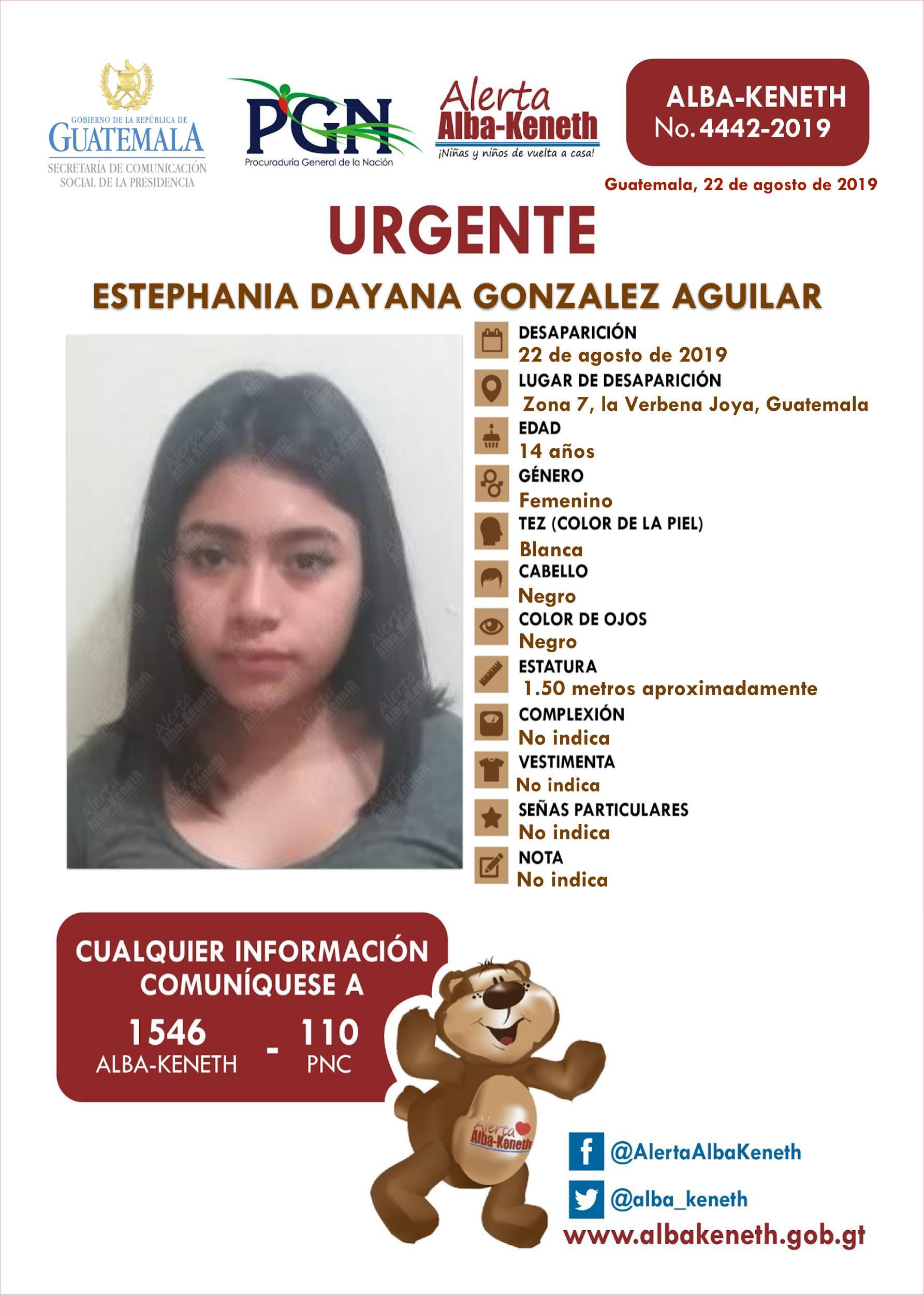 Estephania Dayana Gonzalez Aguilar
