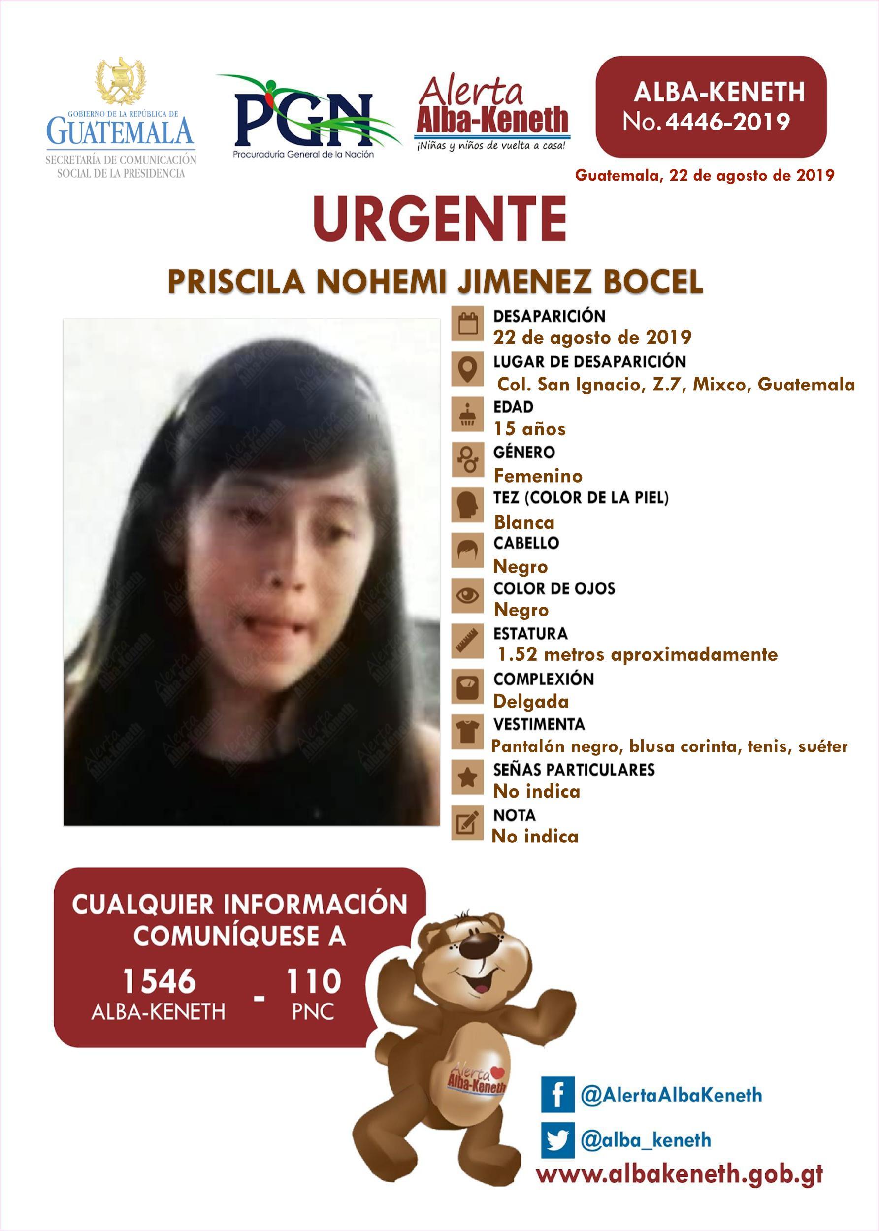 Priscila Nohemi Jimenez Bocel
