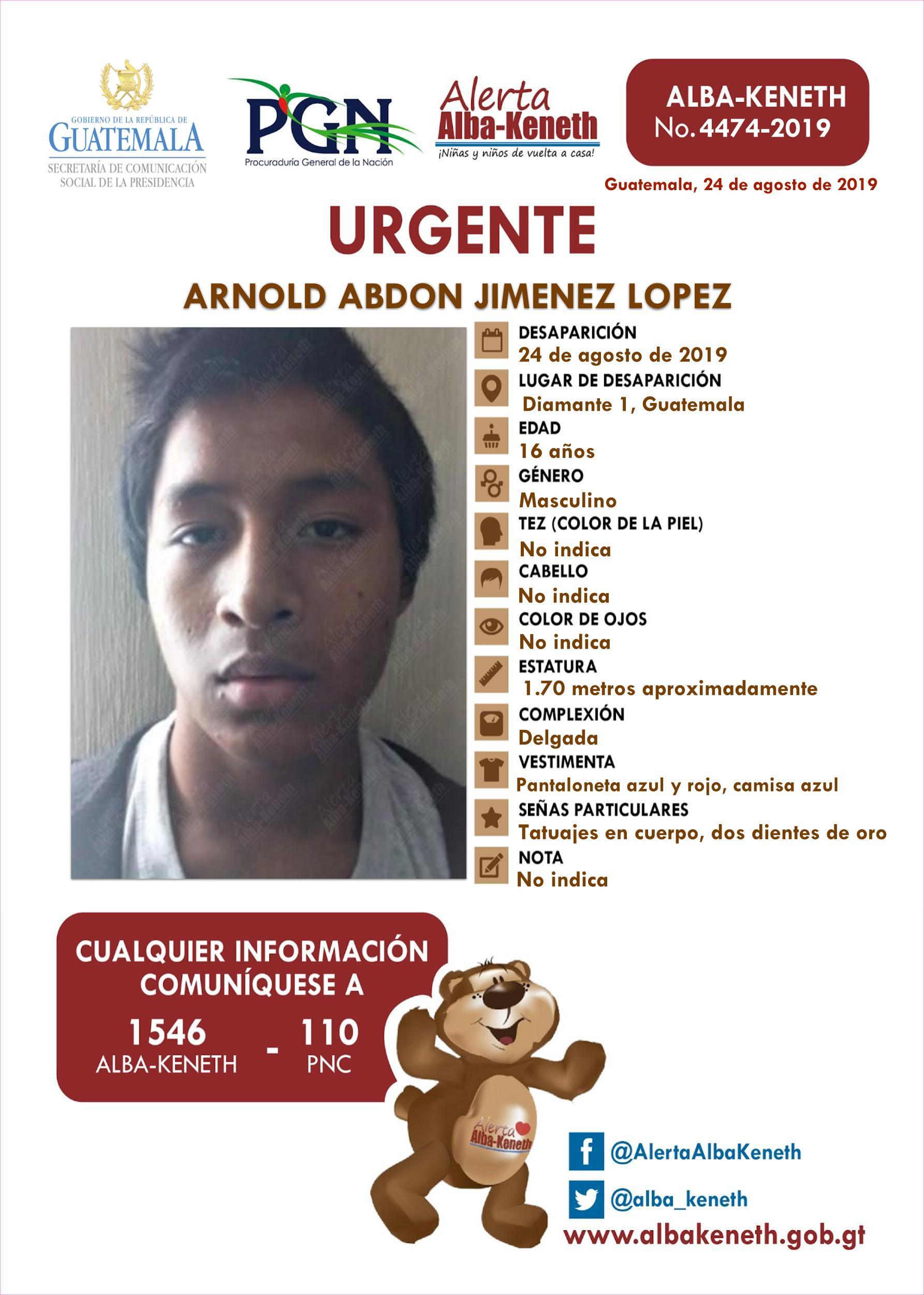 Arnold Abdon Jimenez Lopez