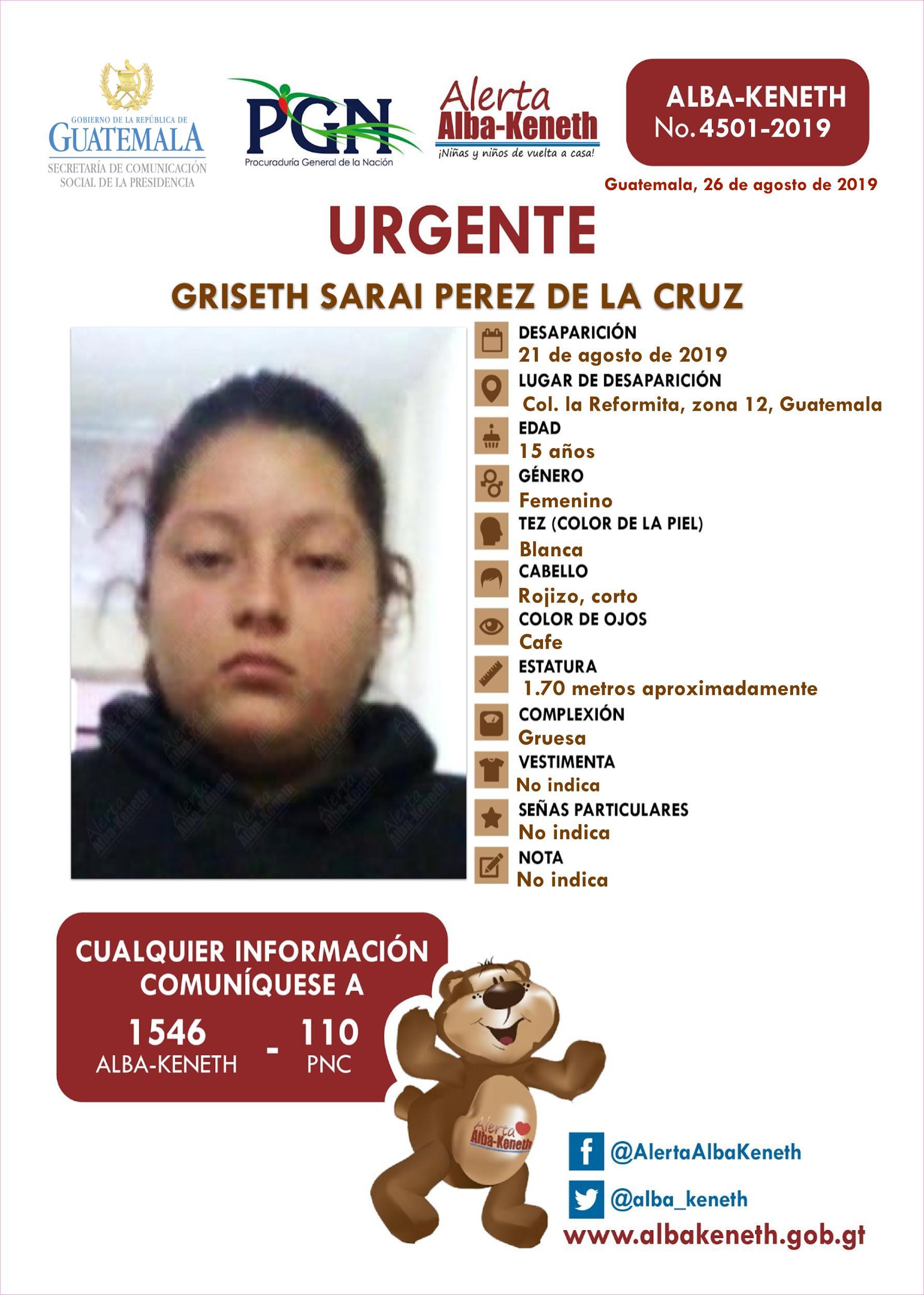 Griseth Sarai Perez de la Cruz