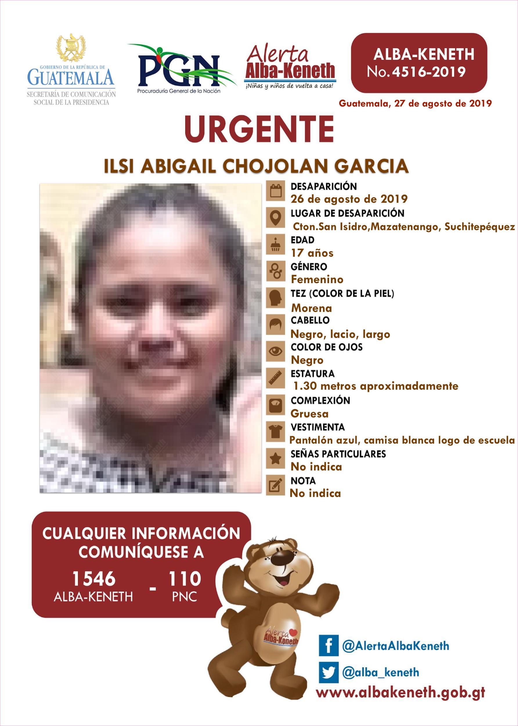 Ilsi Abigail Chojolan Garcia