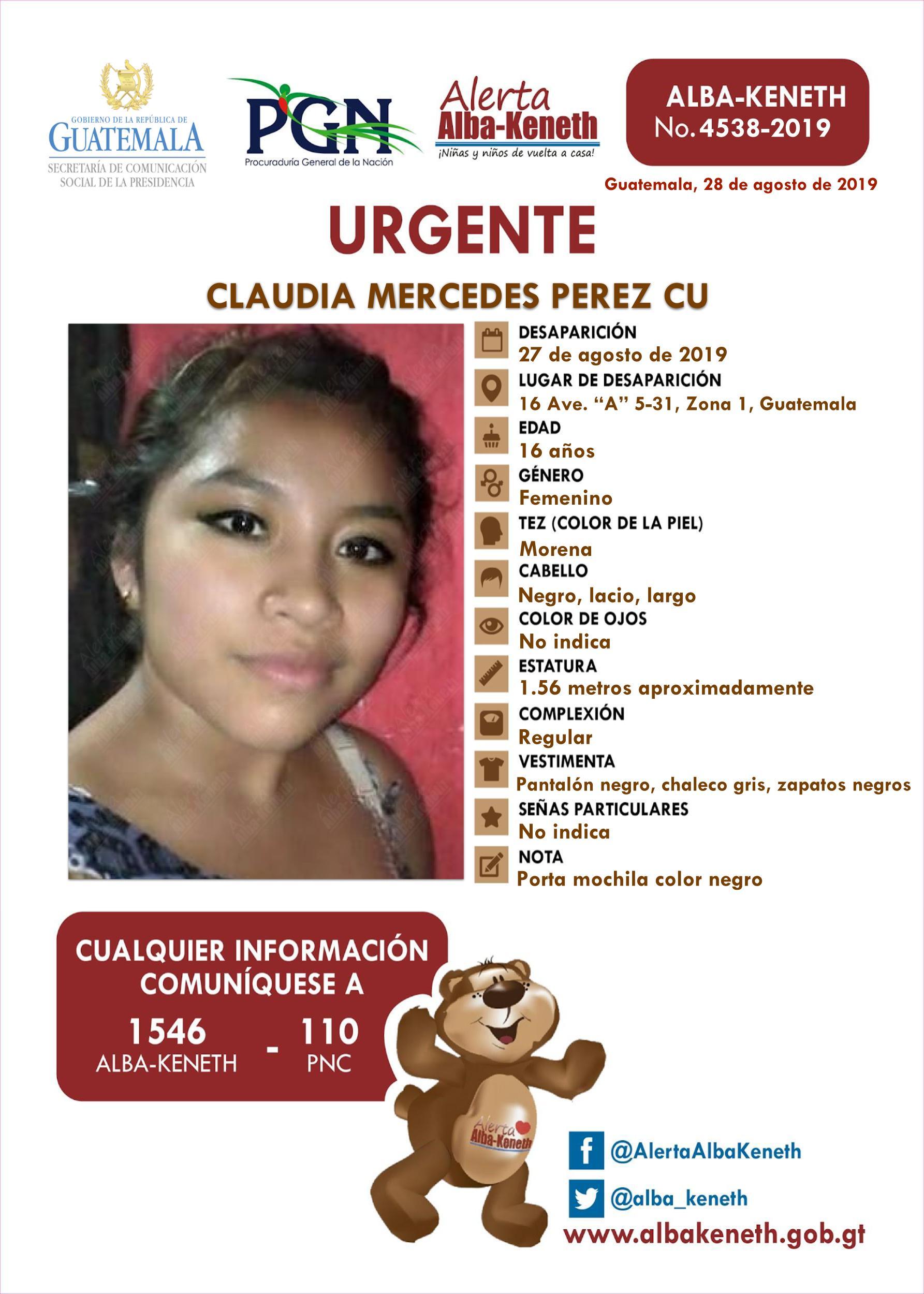 Claudia Mercedes Perez Cu