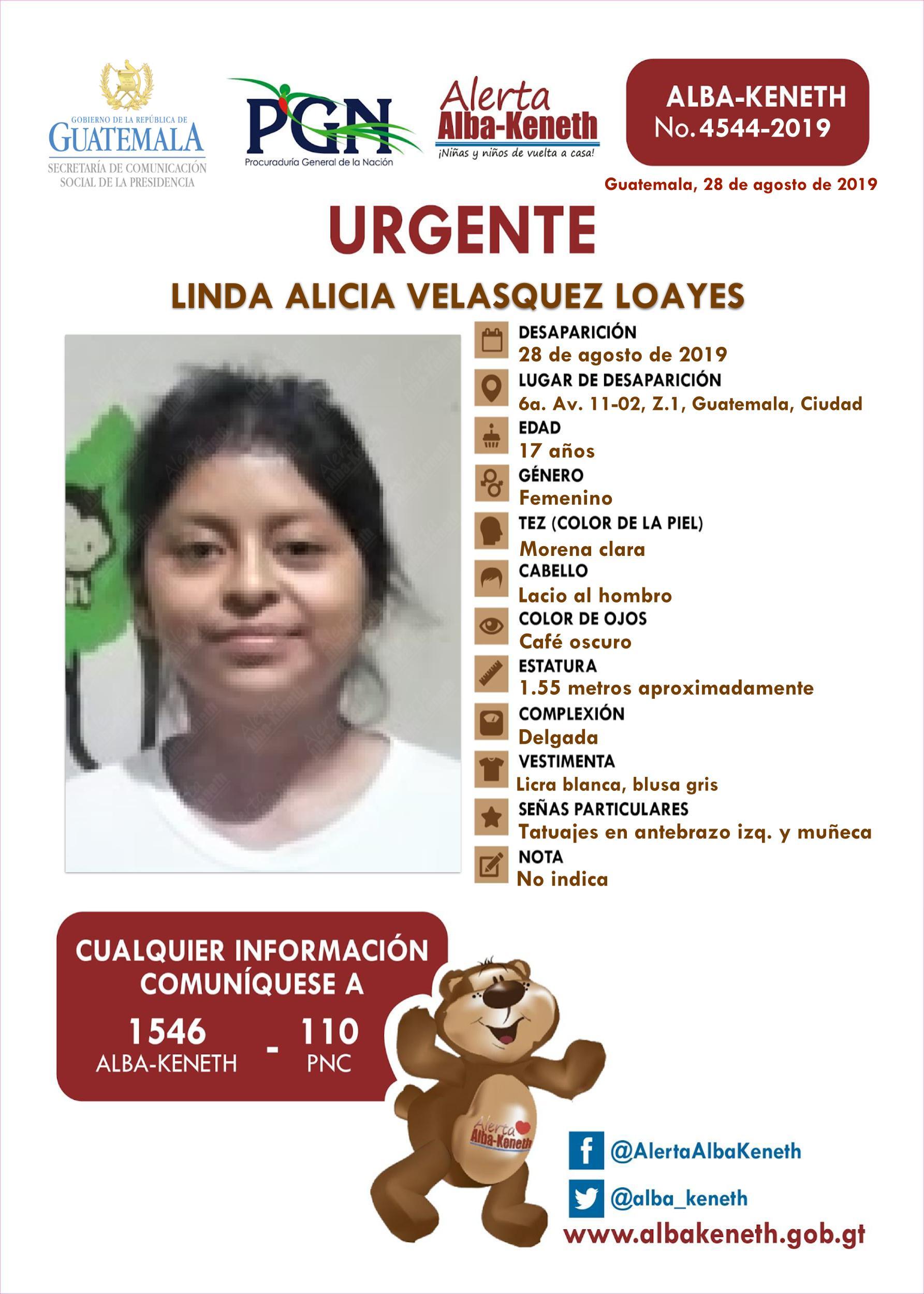 Linda Alicia Velasquez Loayes