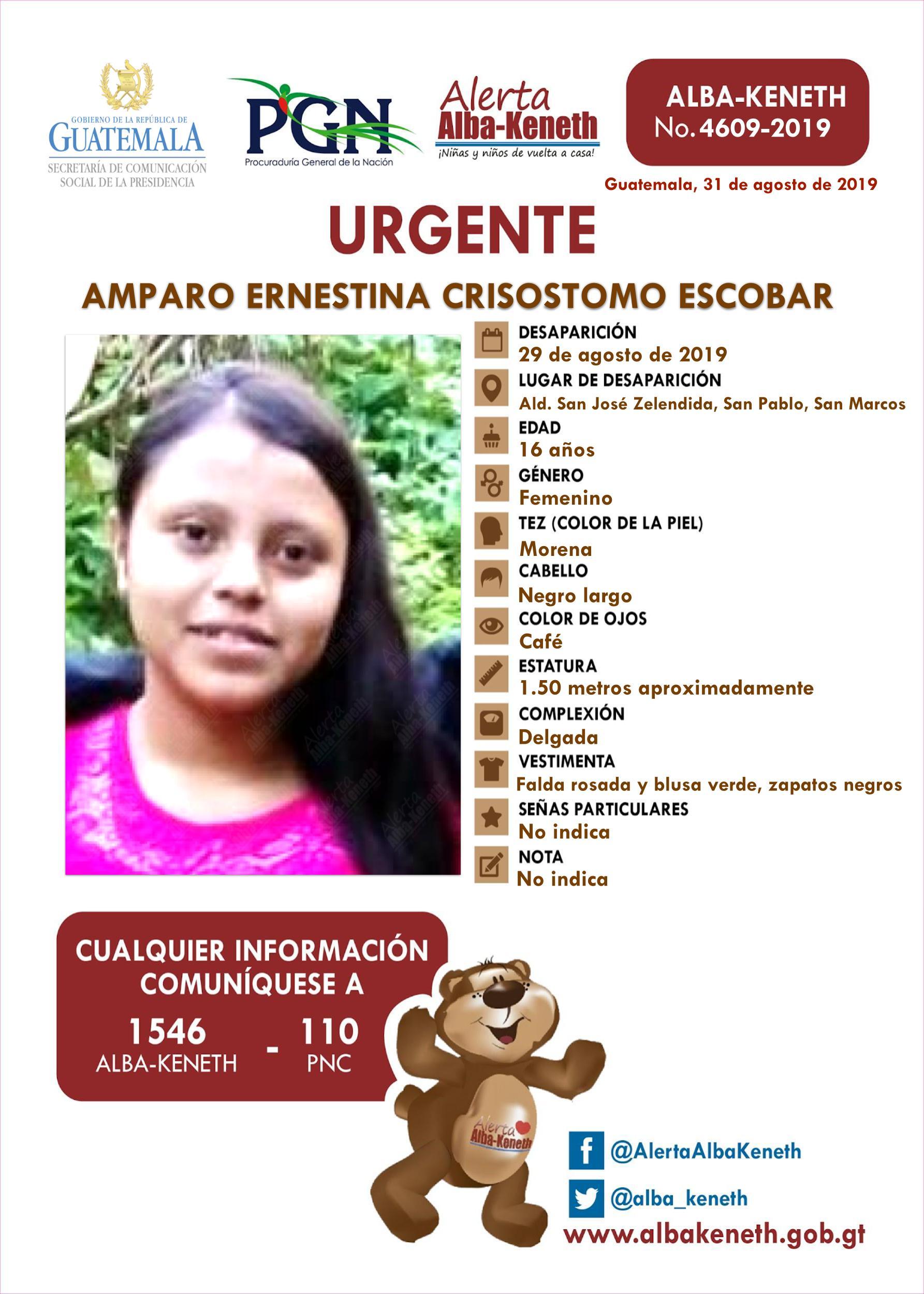 Amparo Ernestina Crisostomo Escobar