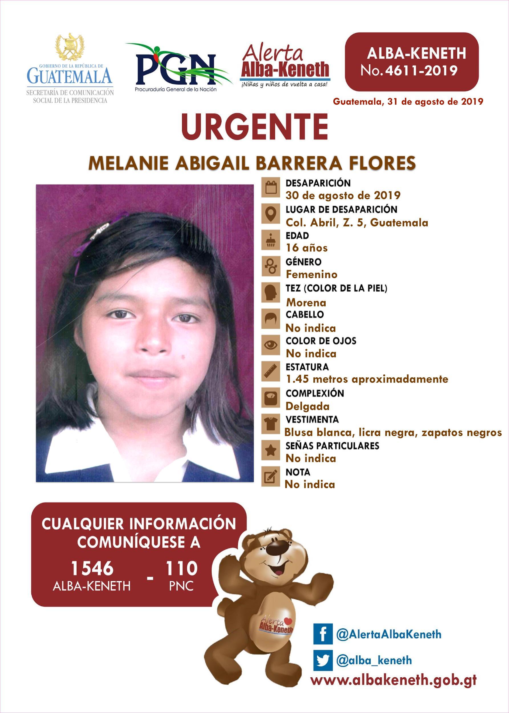 Melanie Abigail Barrera Flores