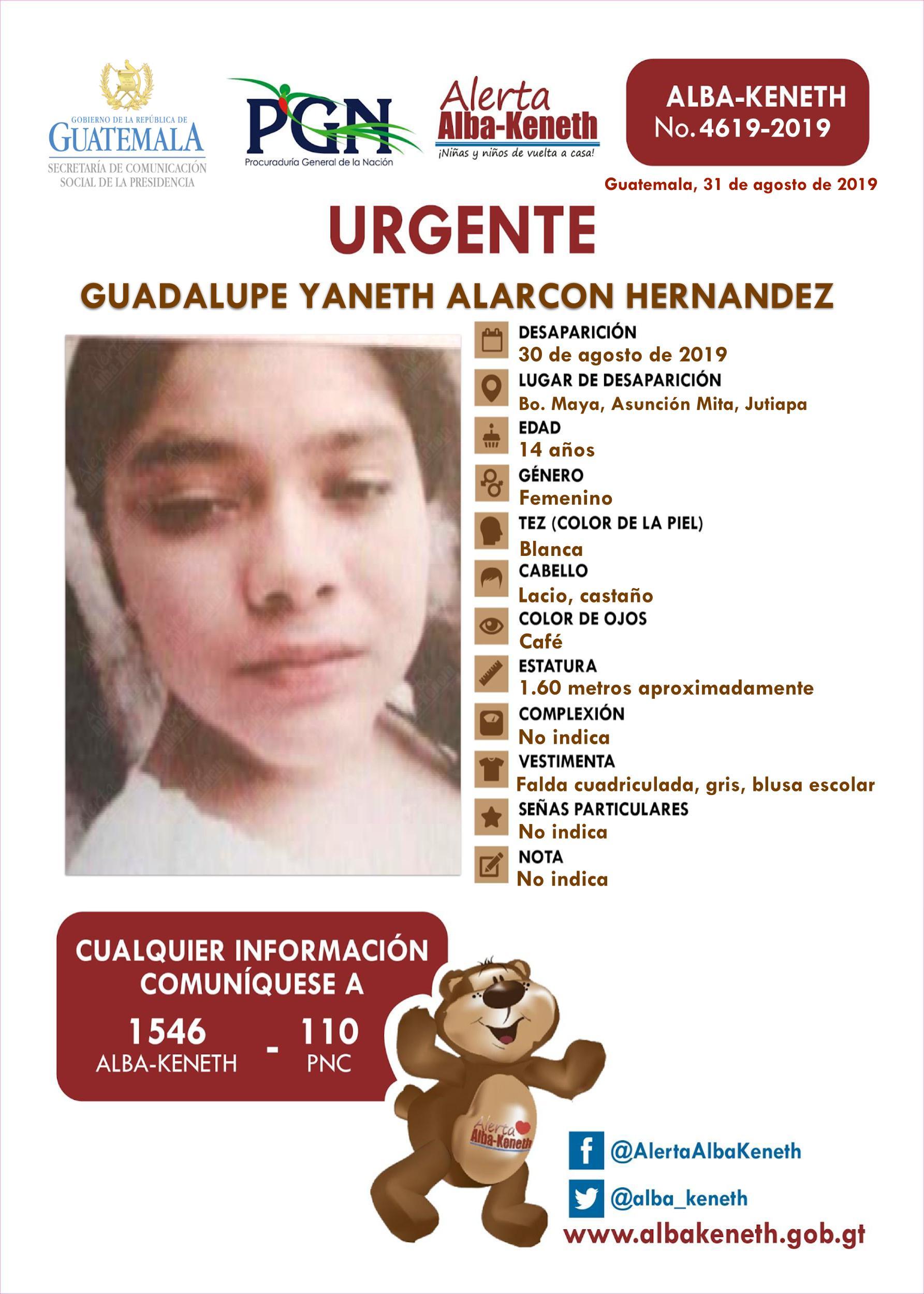 Guadalupe Yaneth Alarcon Hernandez