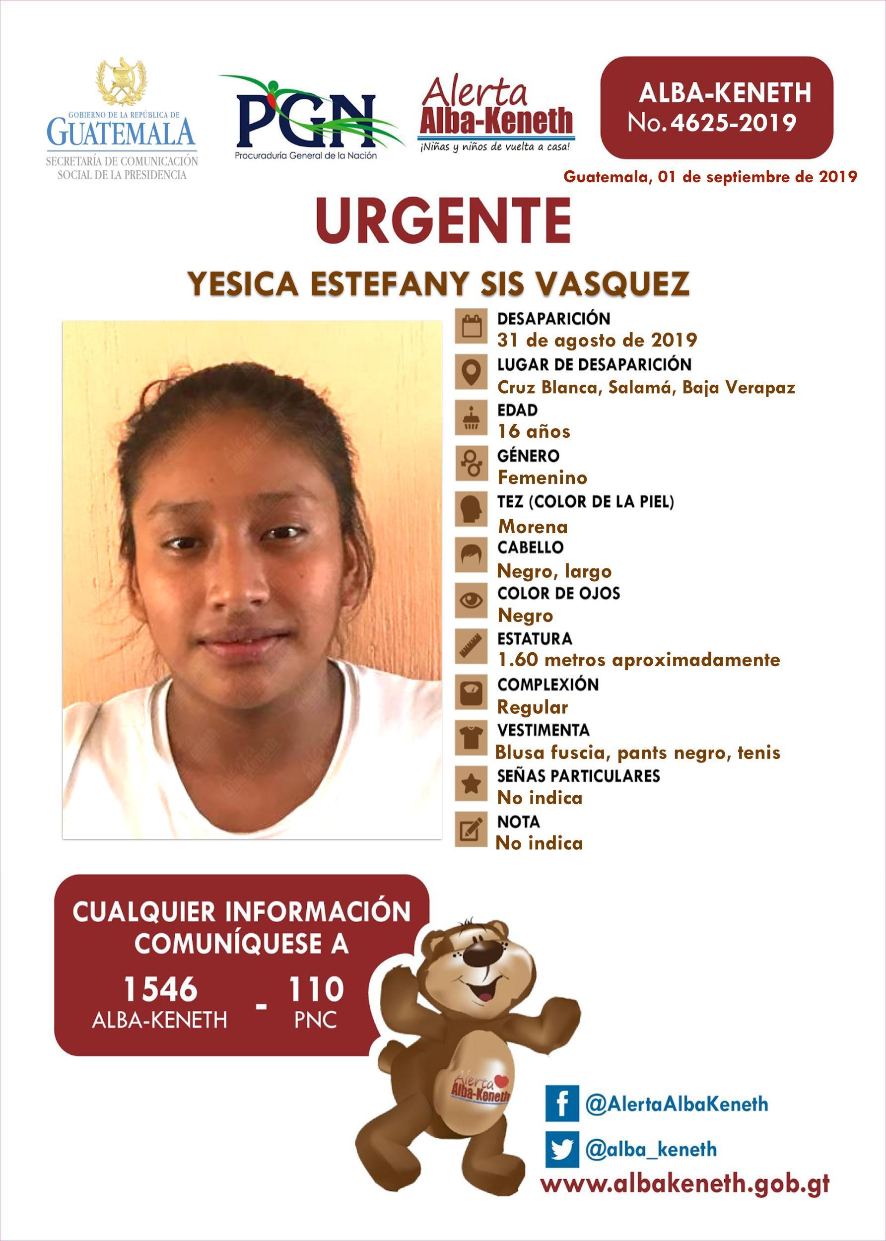 Yesica Estefany Sis Vasquez