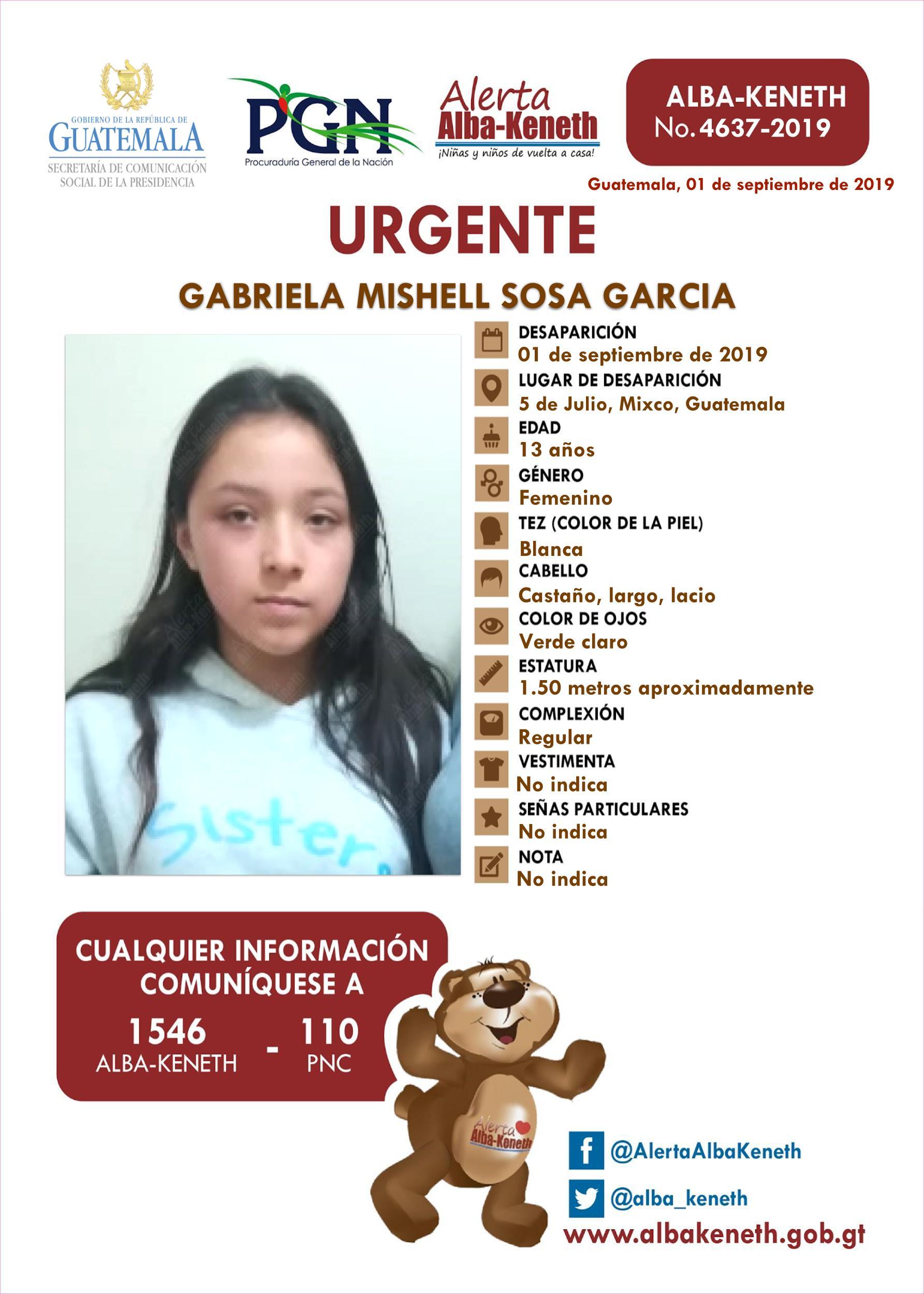Gabriela Mishell Sosa Garcia