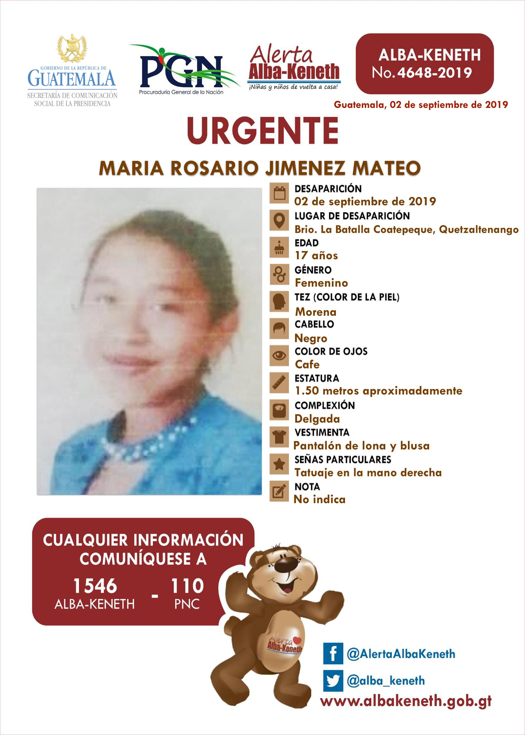Maria Rosario Jimenez Mateo