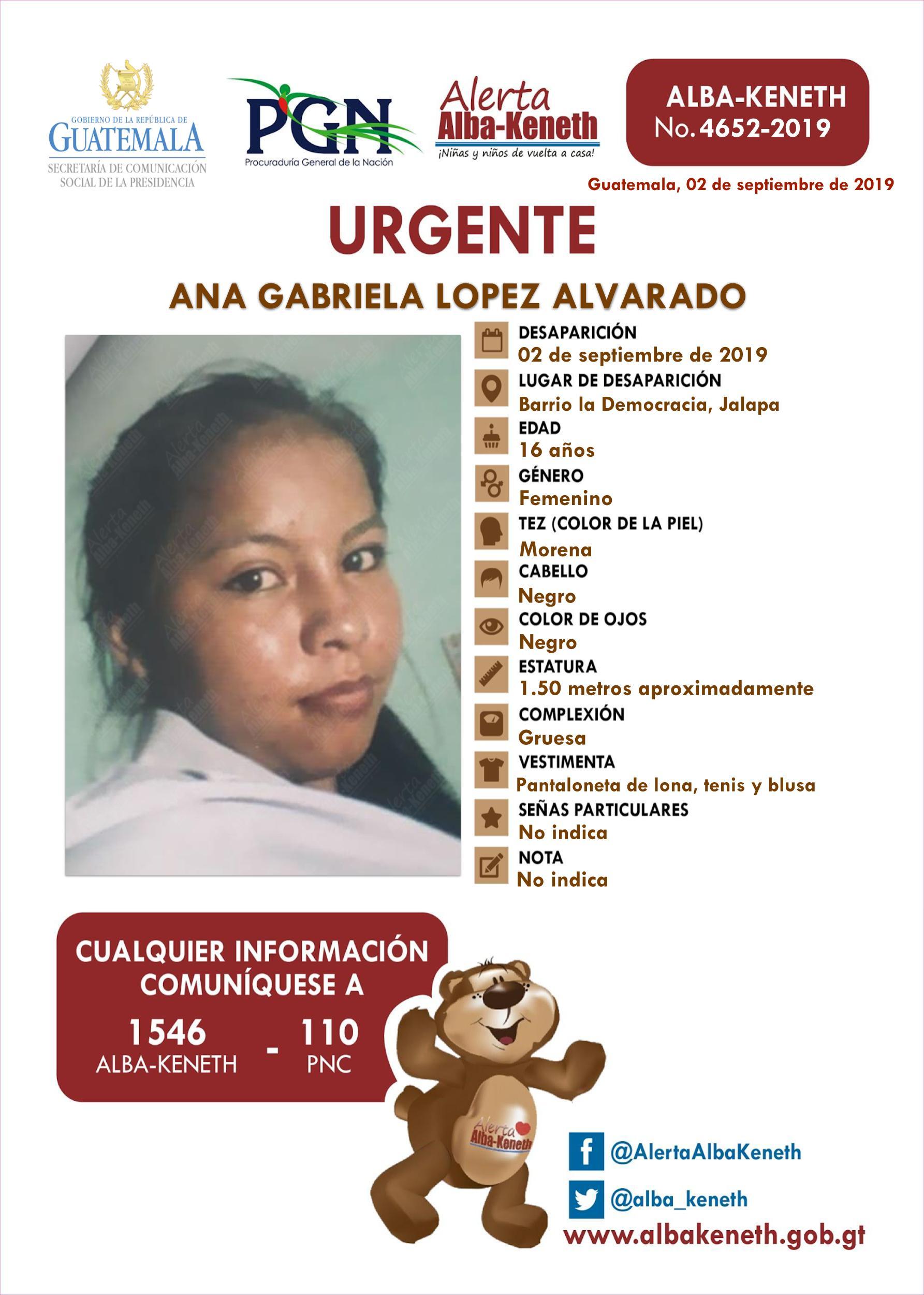 Ana Gabriela Lopez Alvarado