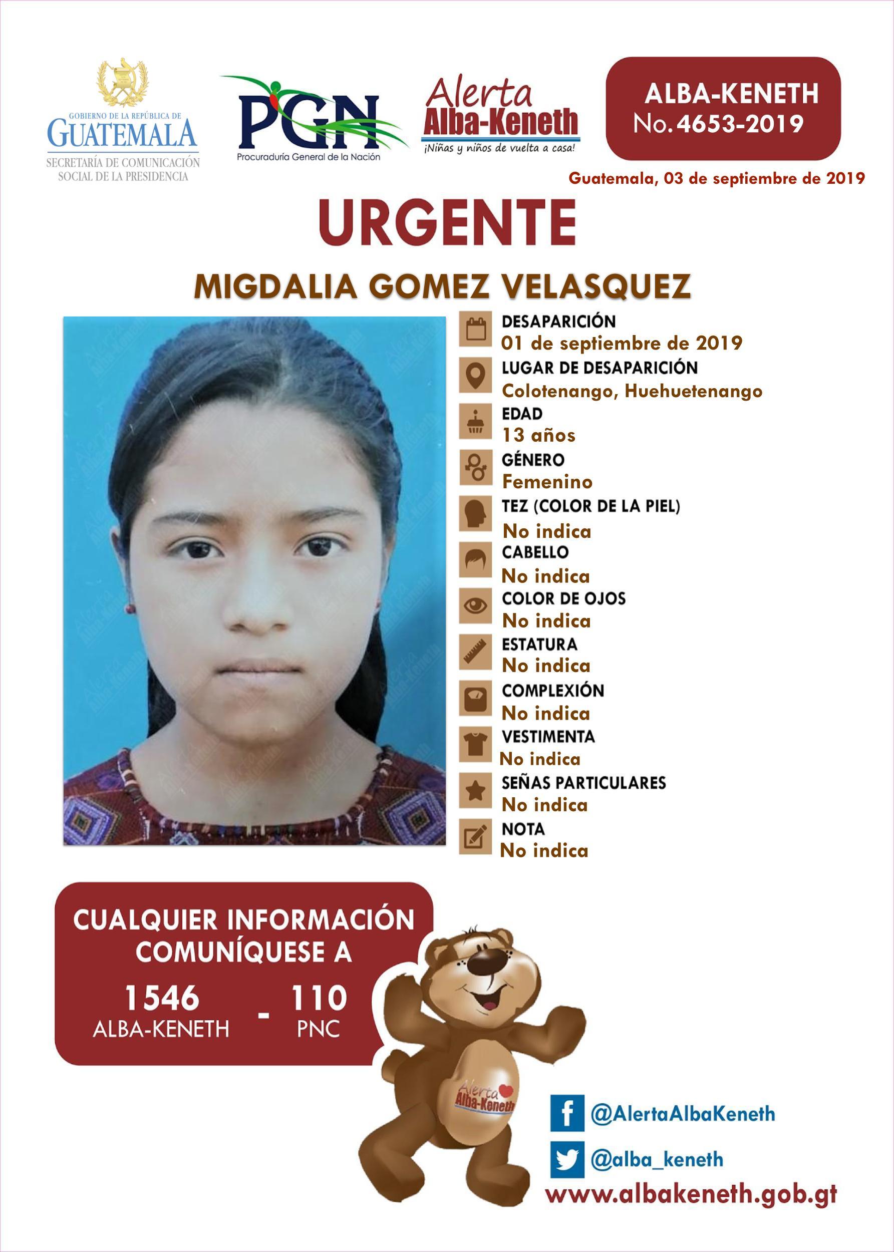 Migdalia Gomez Velasquez