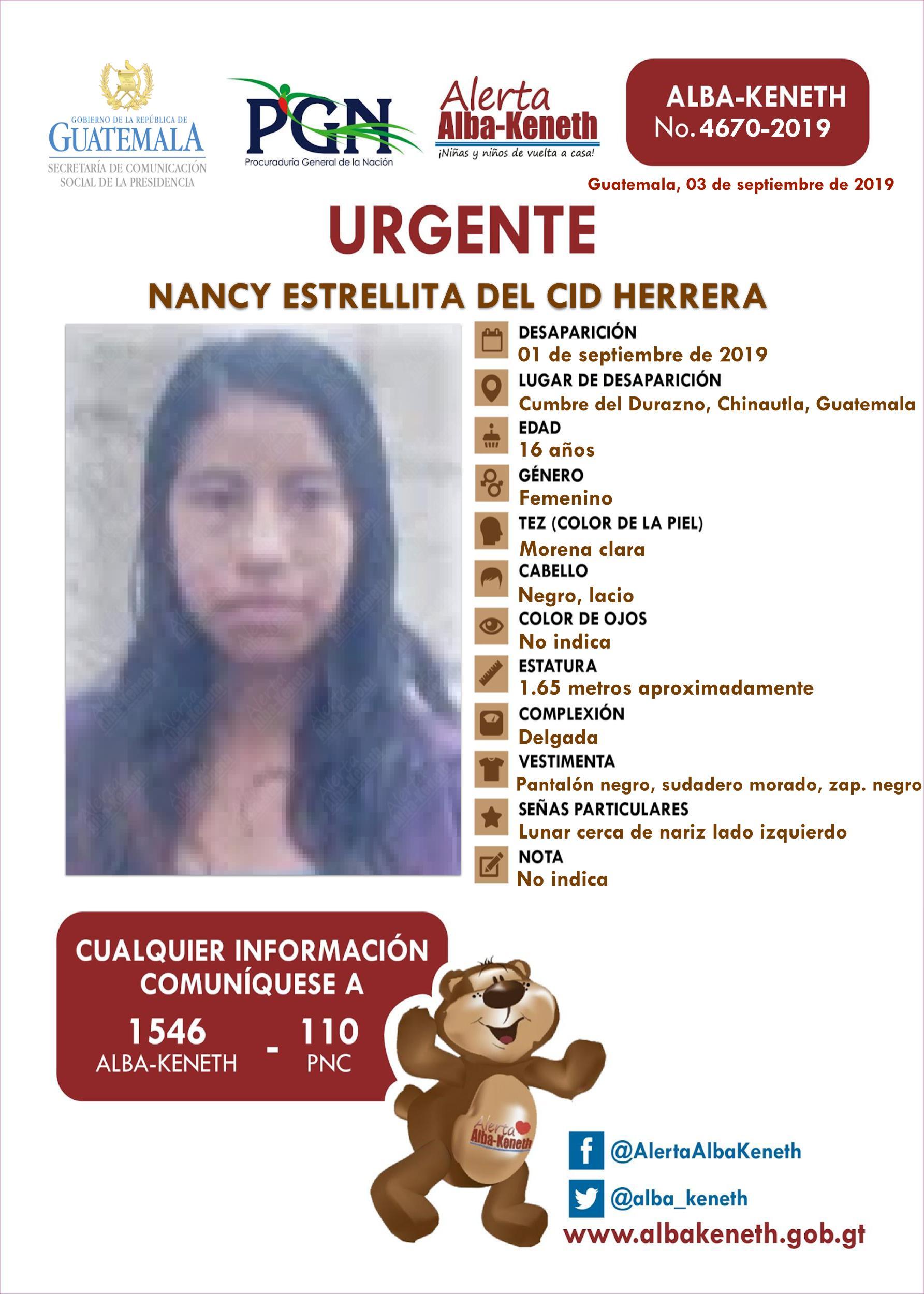 Nancy Estrellita del Cid Herrera