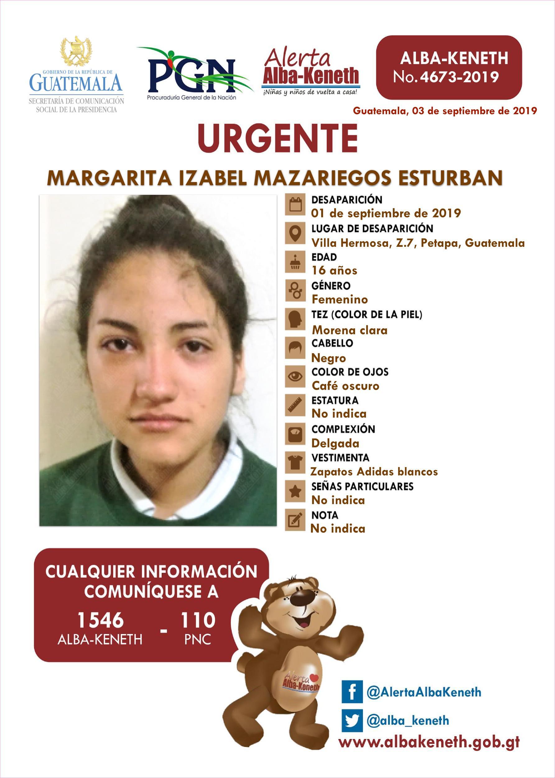 Margarita Izabel Mazariegos Esturban