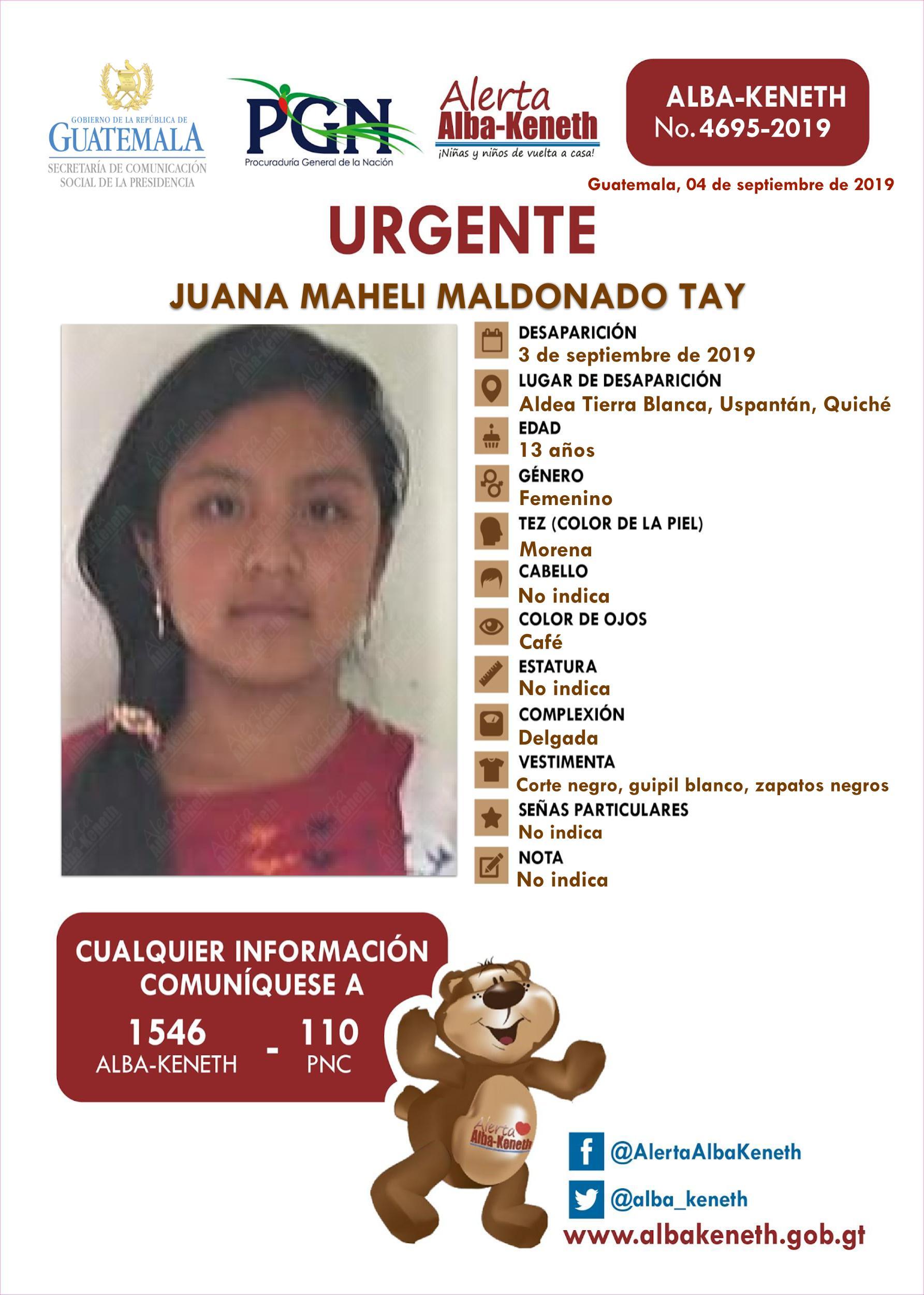 Juana Maheli Maldonado Tay
