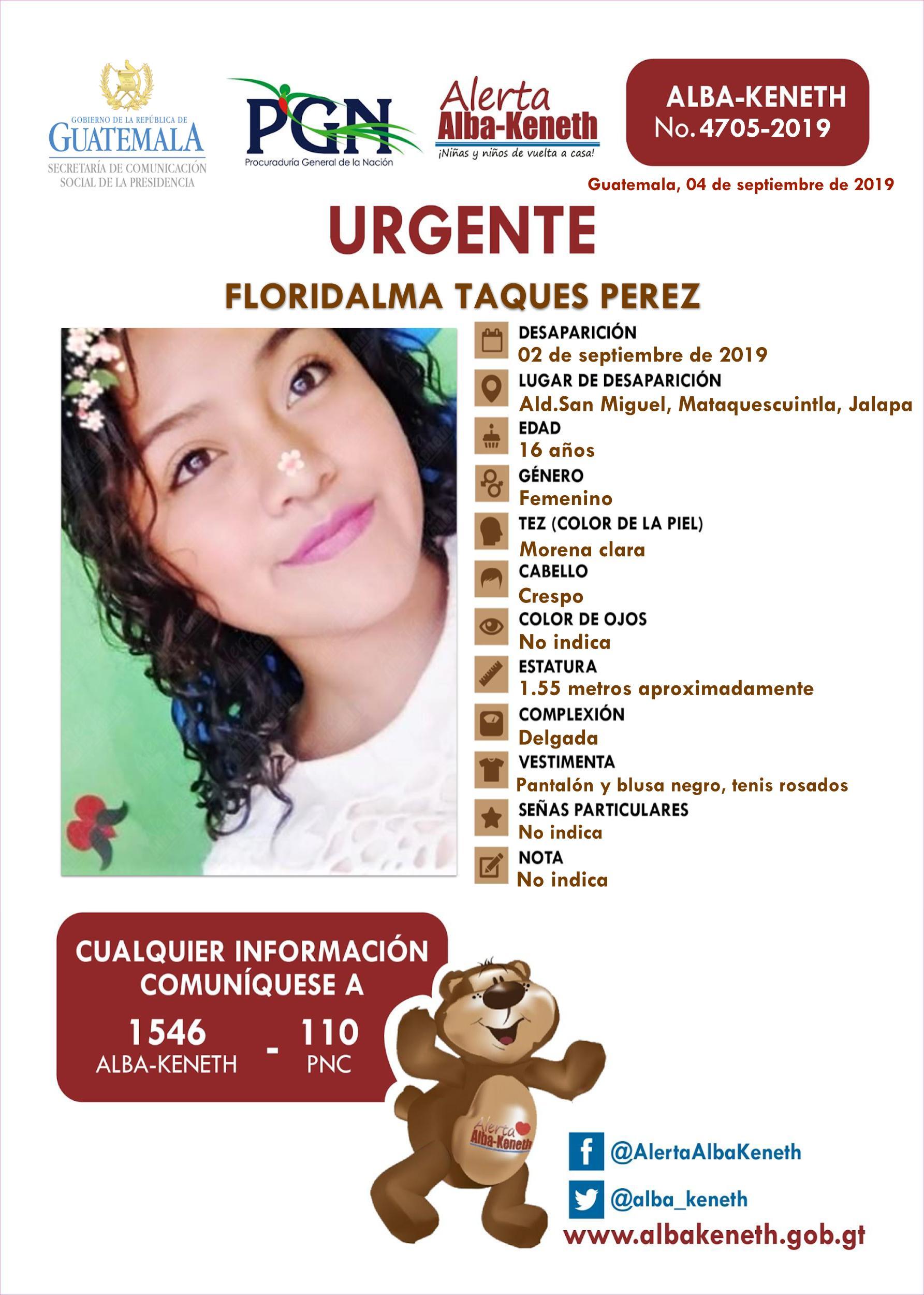 Floridalma Taques Perez
