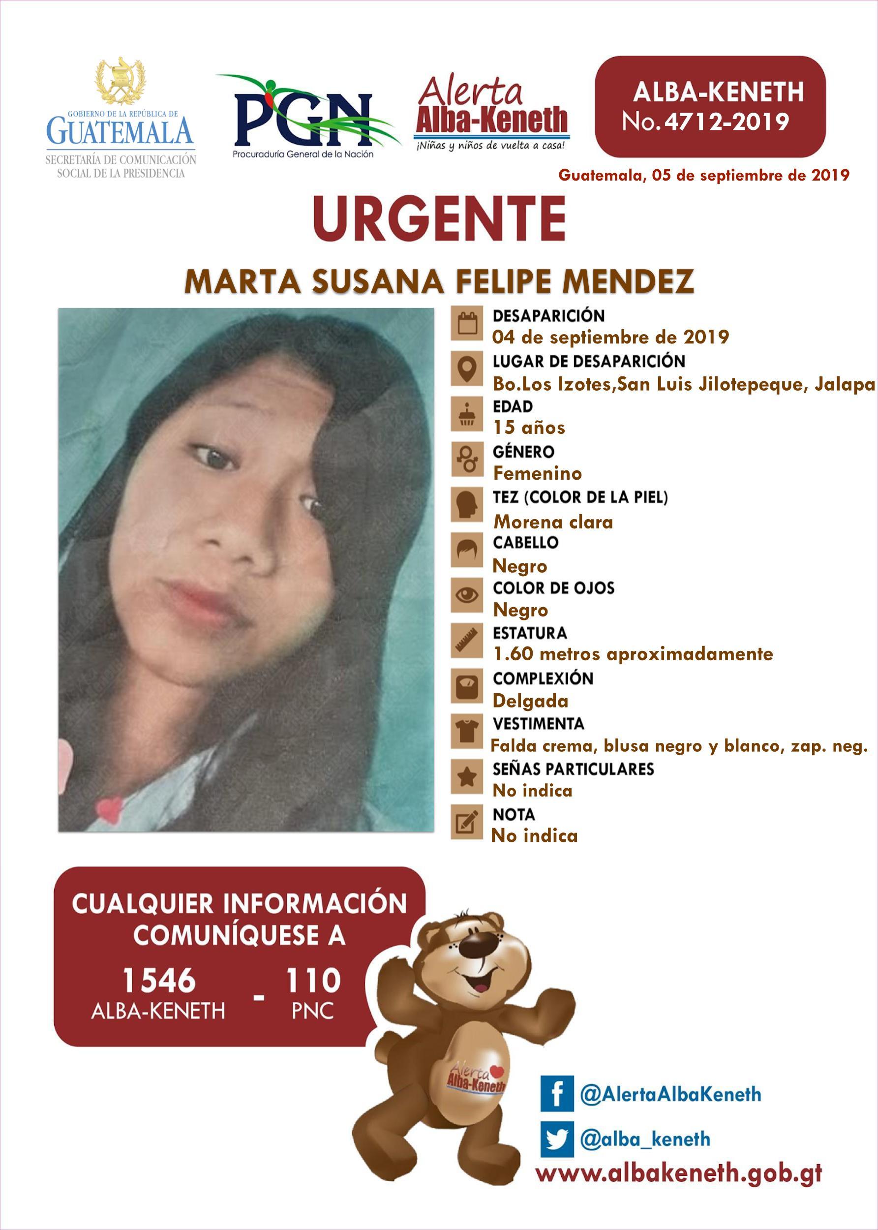 Marta Susana Felipe Mendez
