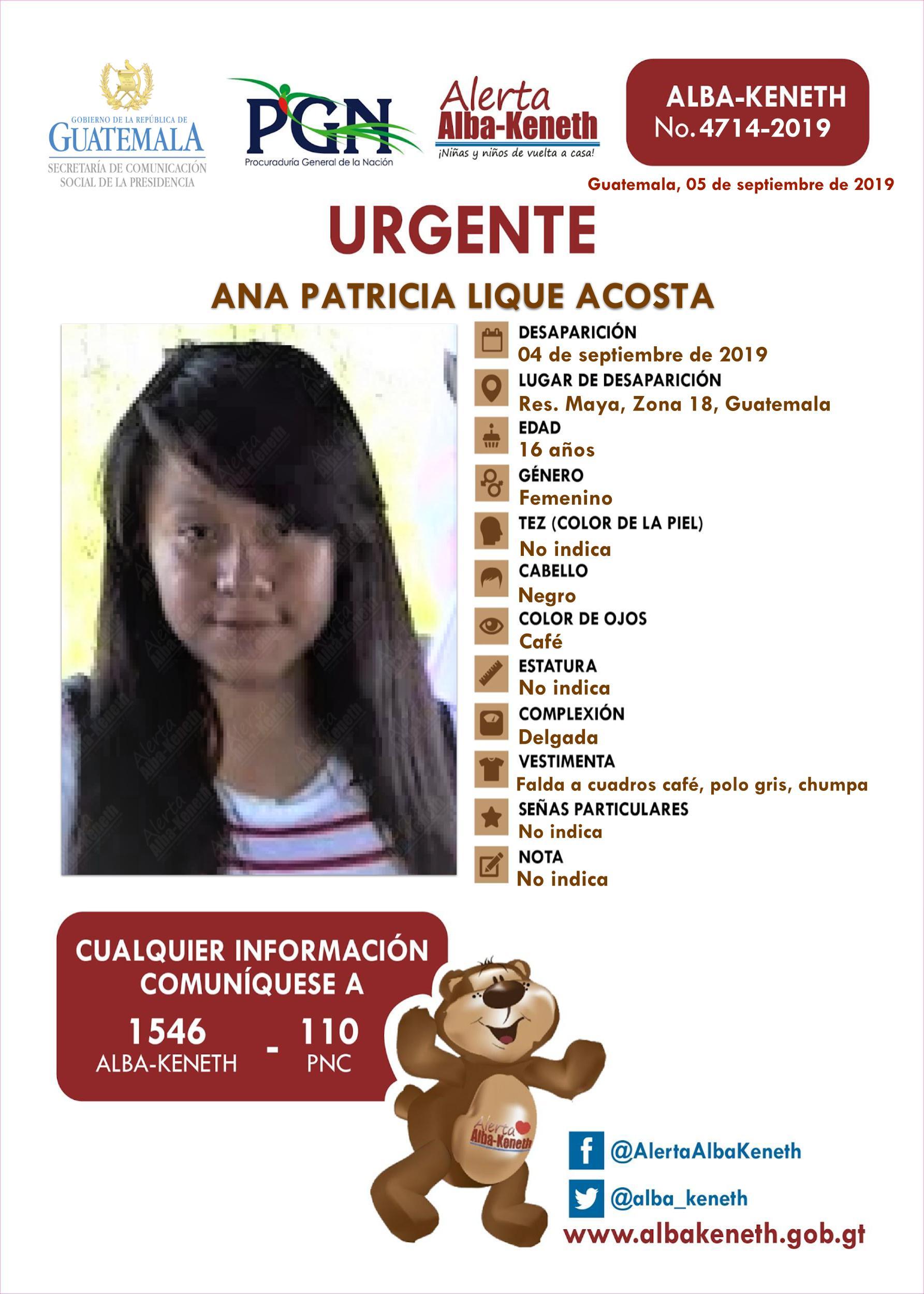 Ana Patricia Lique Acosta