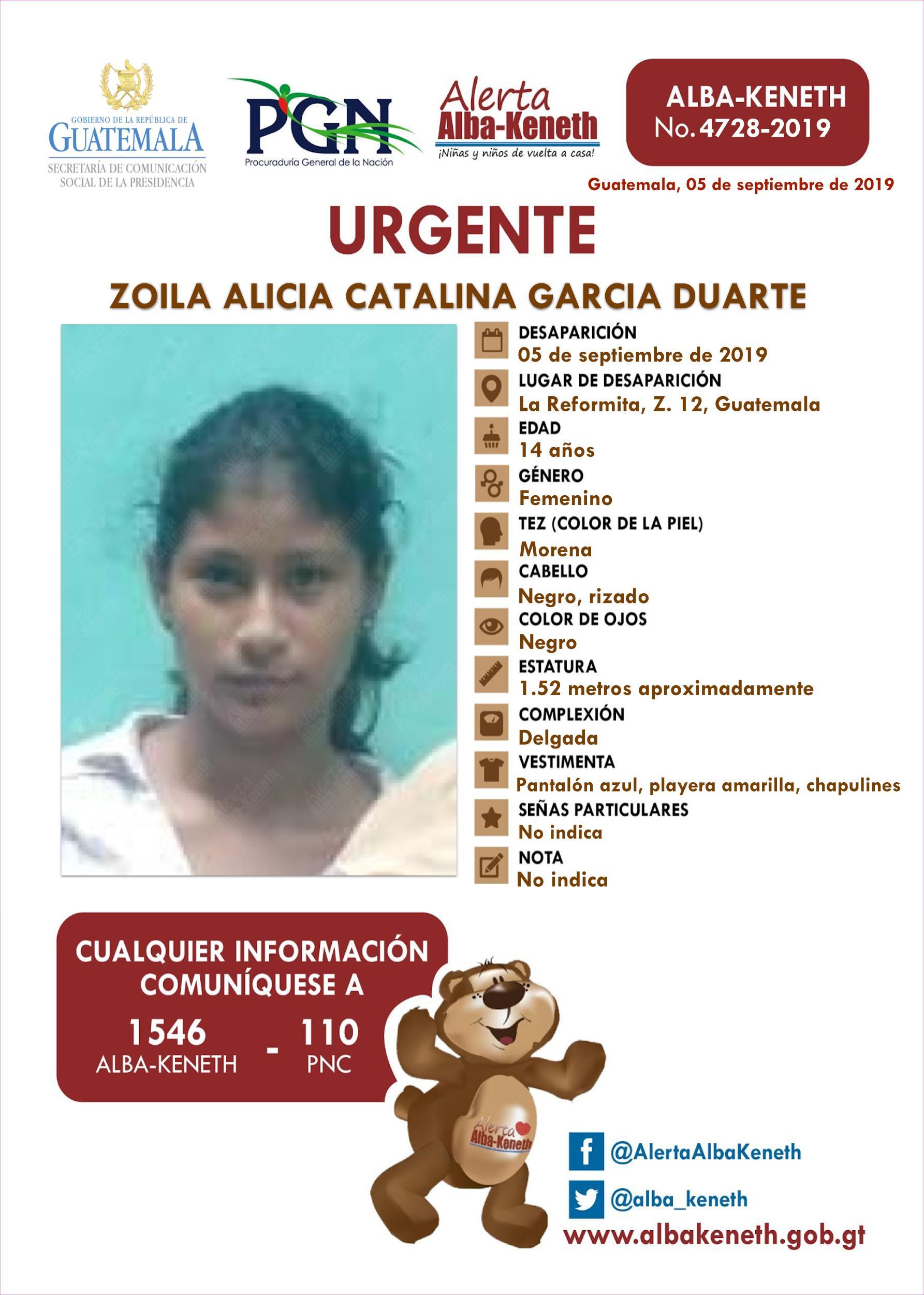 Zoila Alicia Catalina Garcia Duarte