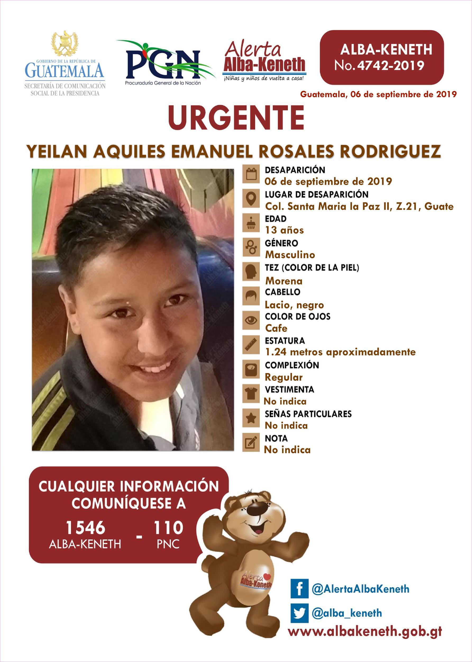 Yeilan Aquiles Emanuel Rosales Rodriguez