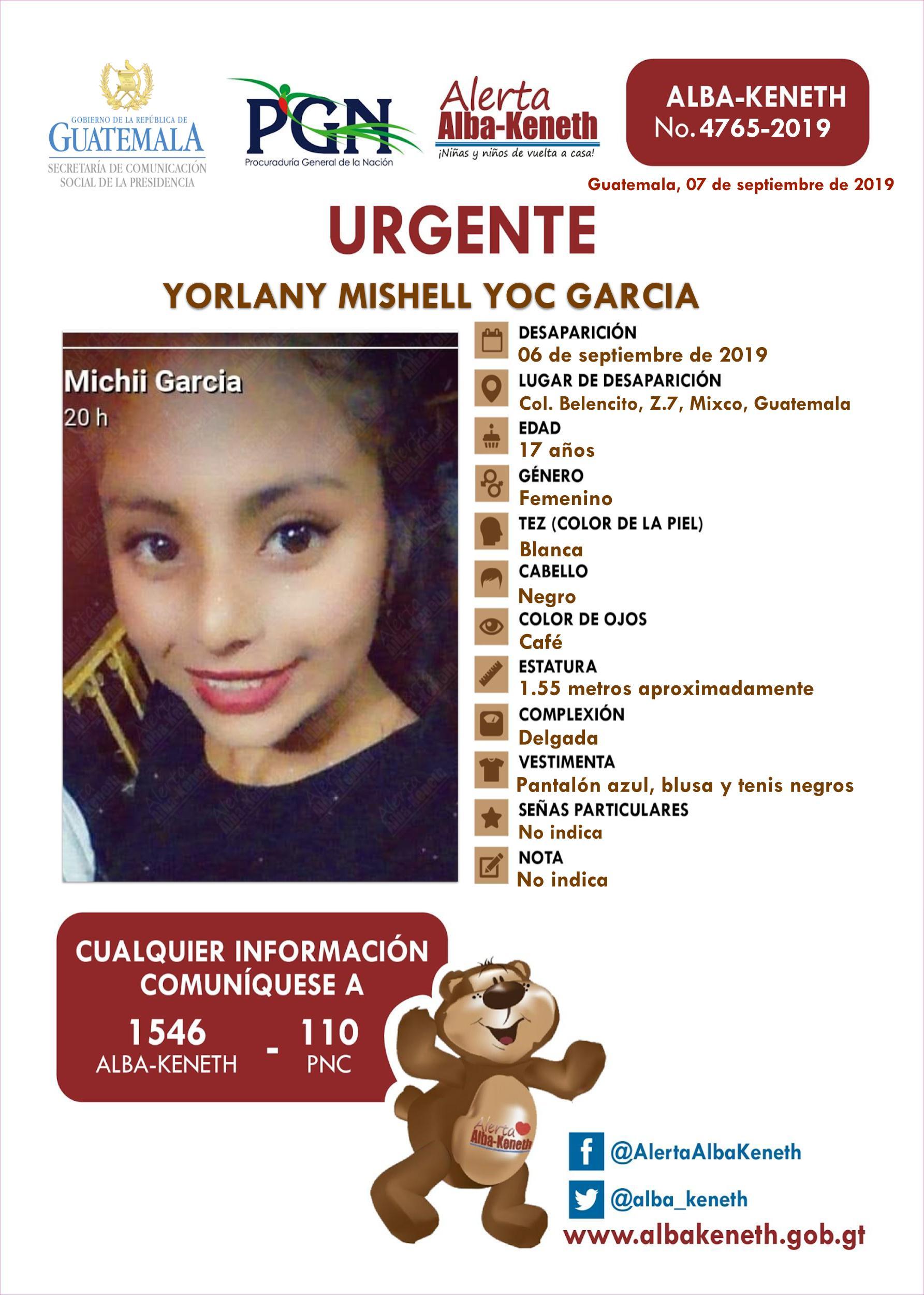 Yorlany Mishell Yoc Garcia