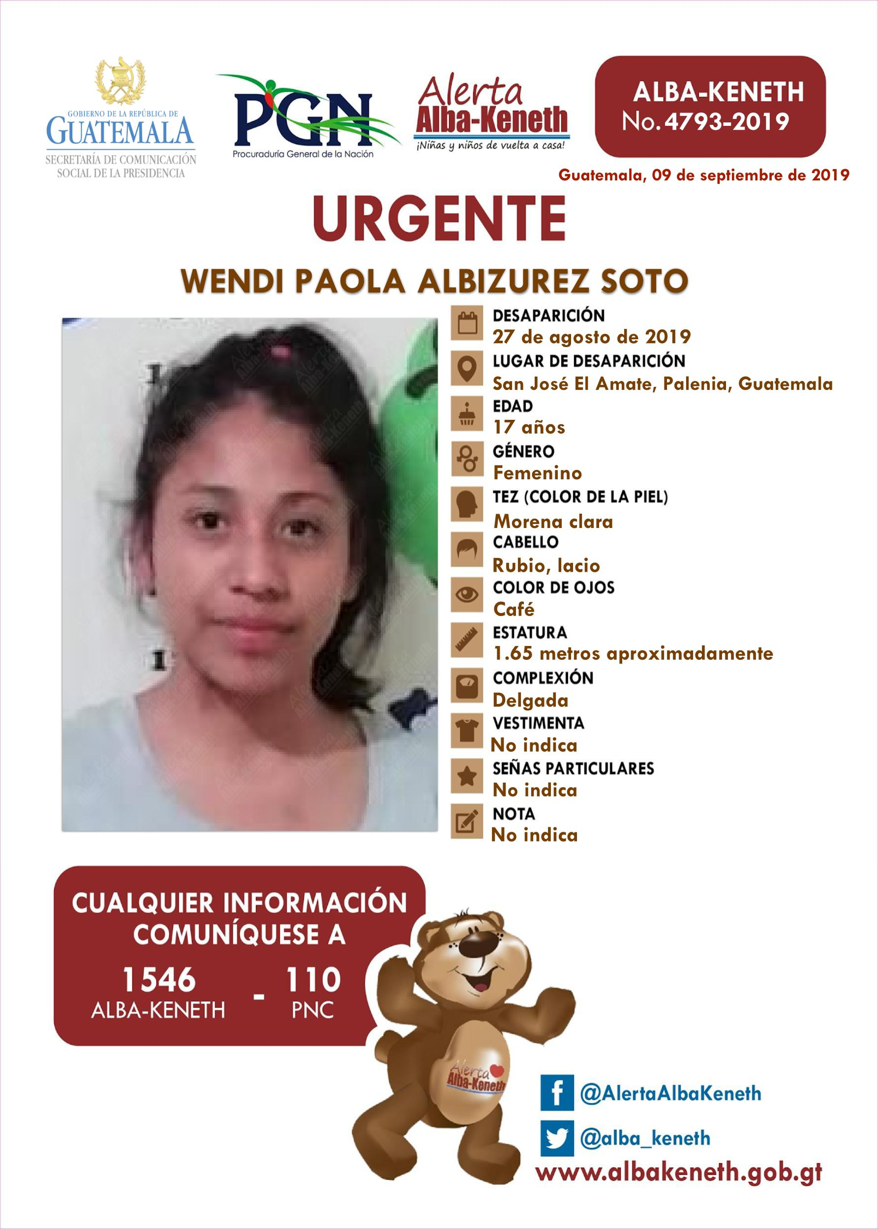 Wendi Paola Albizurez Soto