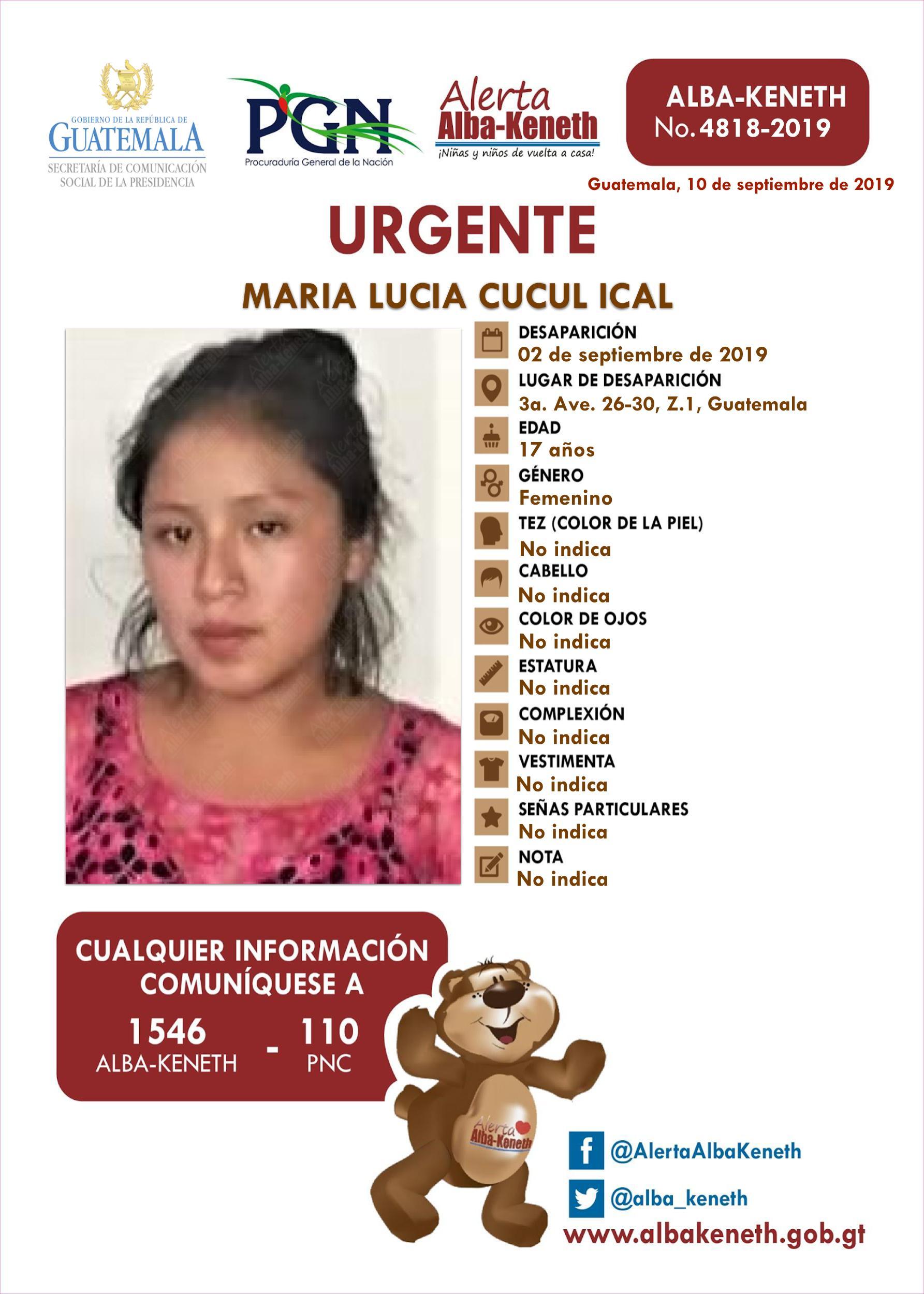 Maria Lucia Cucul Ical