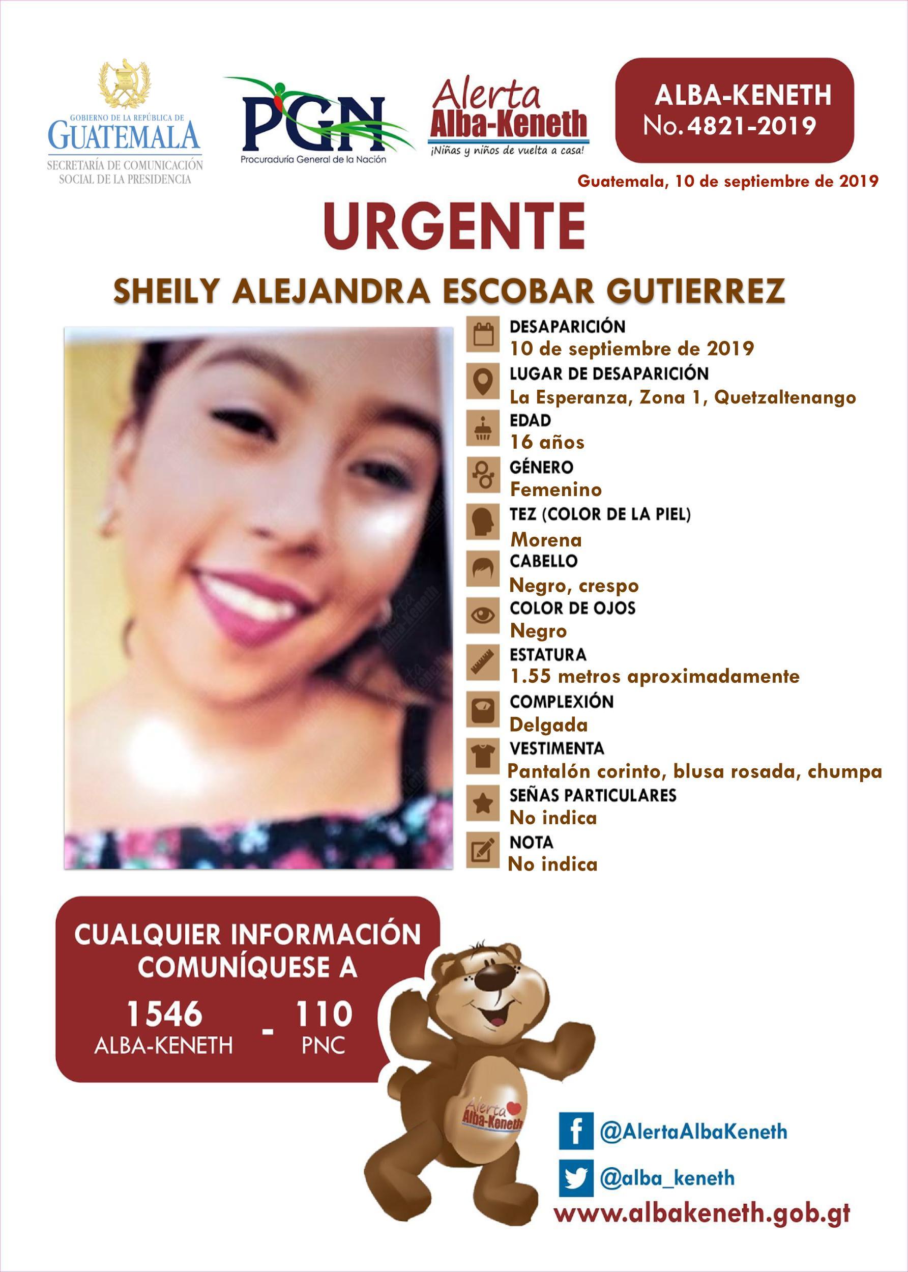 Sheily Alejandra Escobar Gutierrez