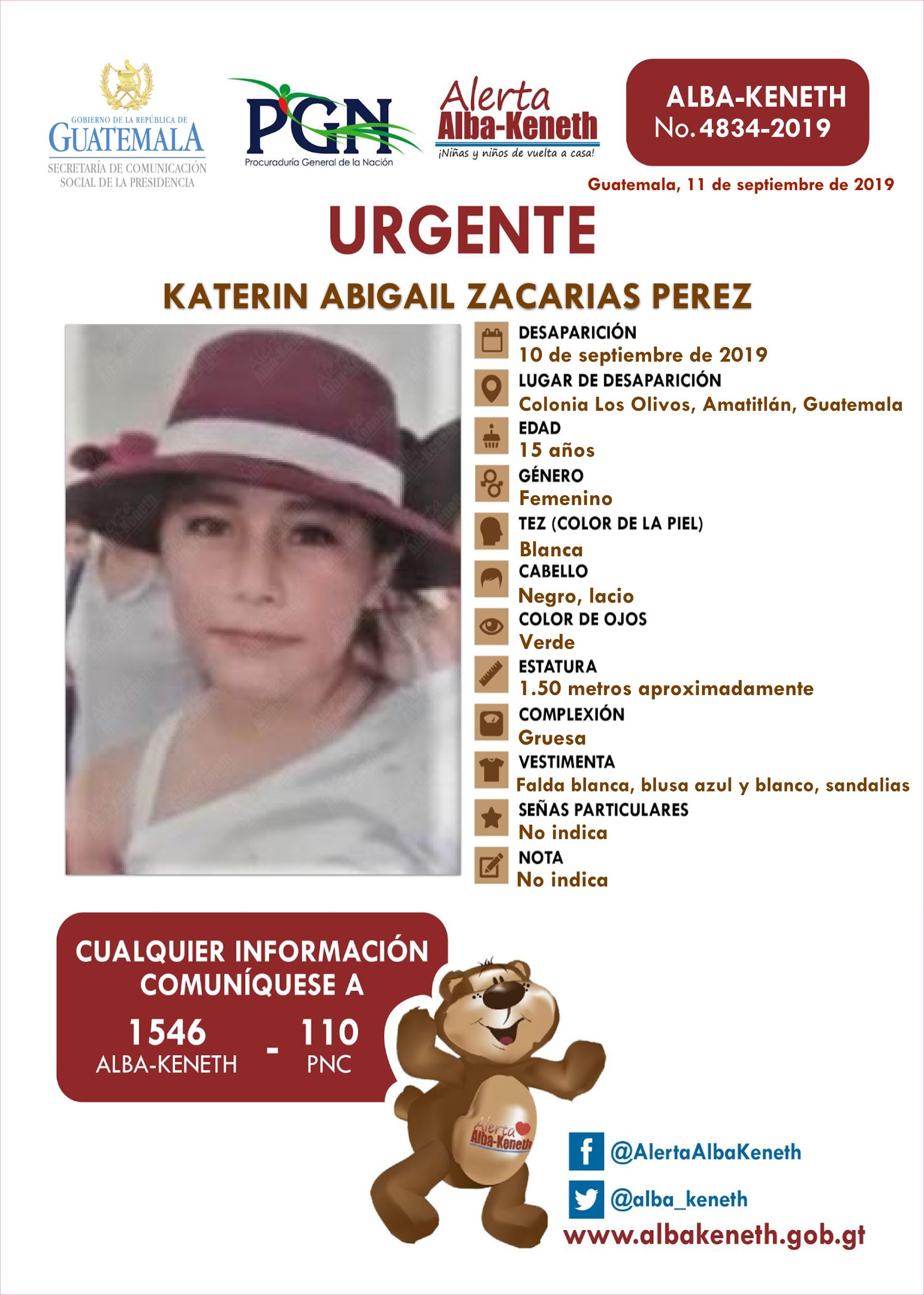 Katerin Abigail Zacarias Perez
