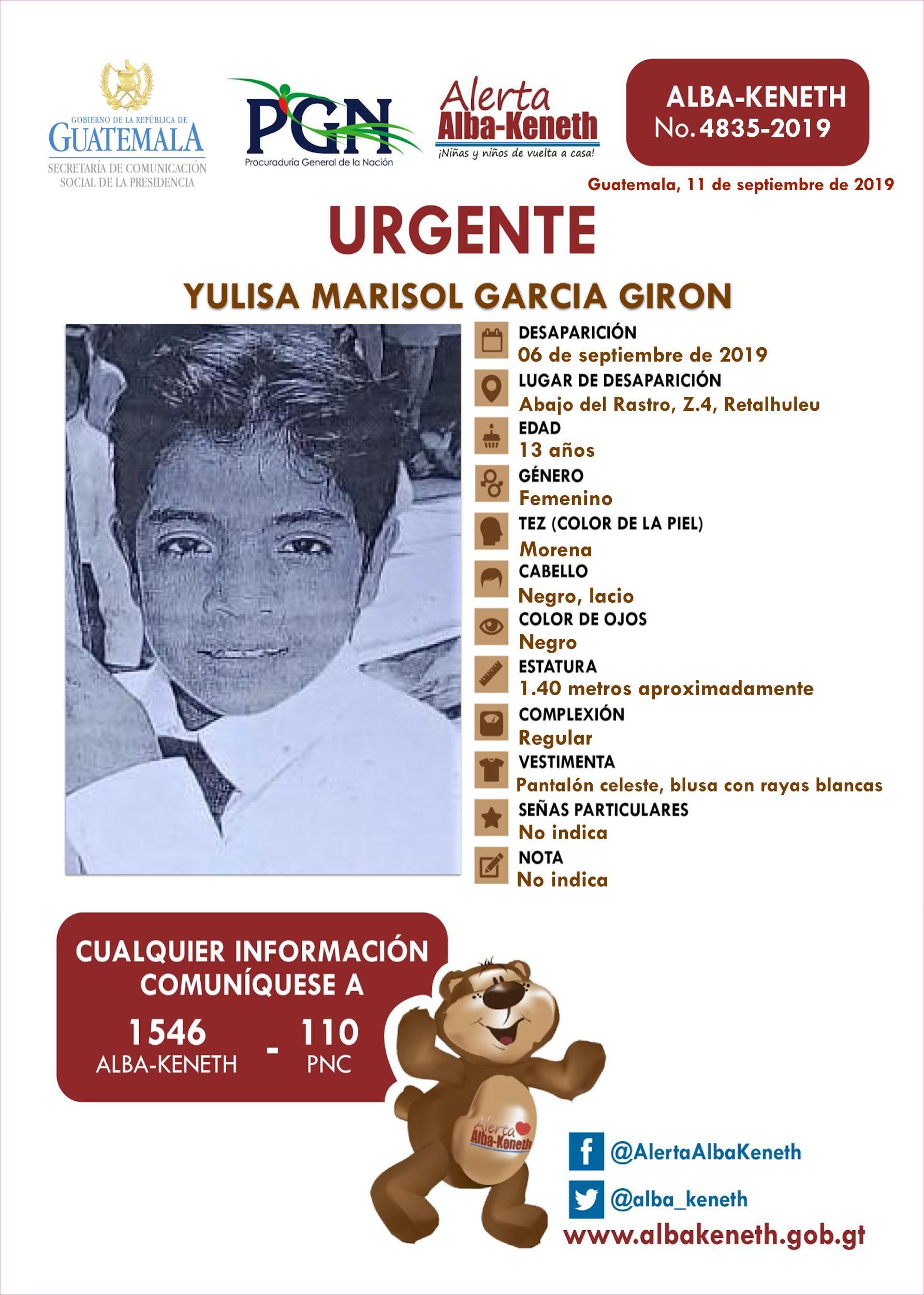 Yulisa Marisol Garcia Giron