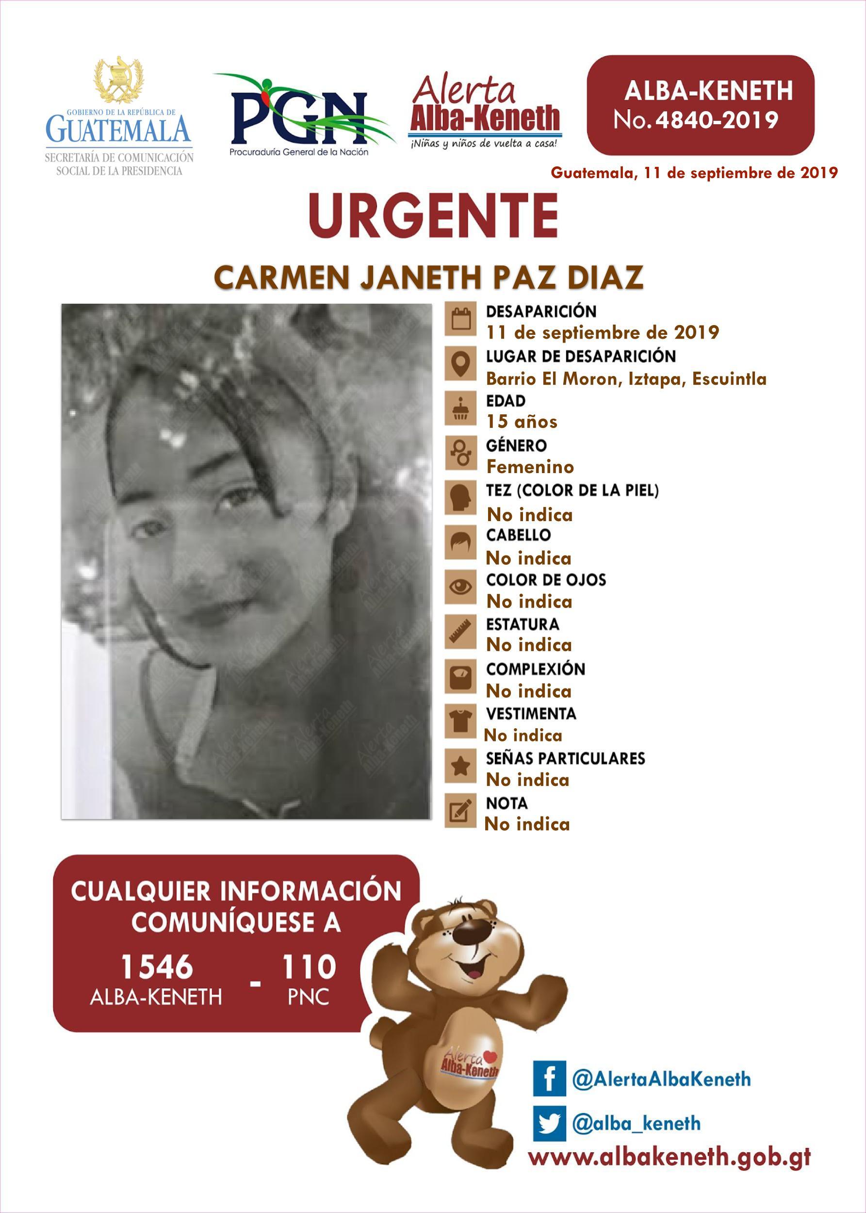Carmen Janeth Paz Diaz