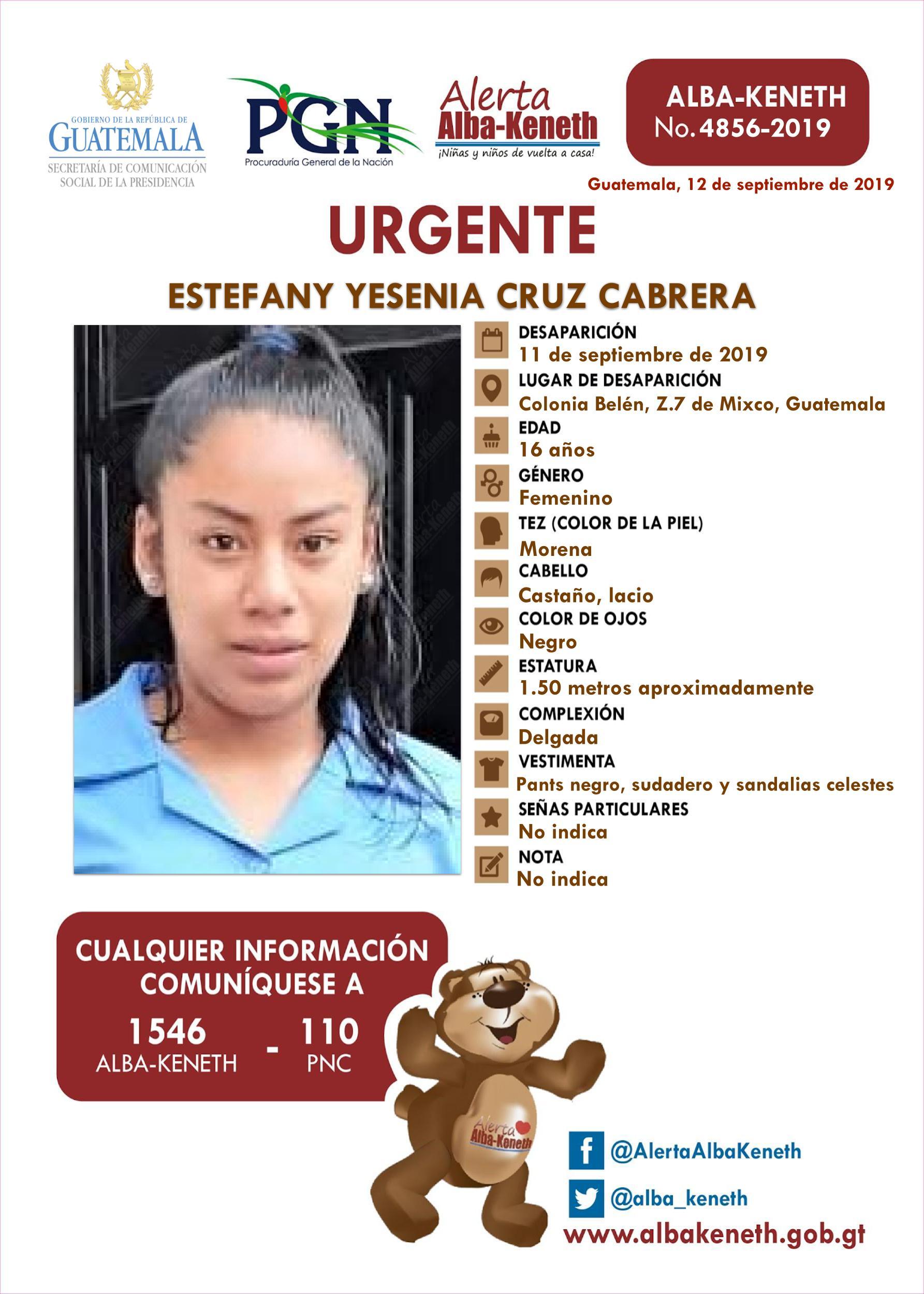 Estefany Yesenia Cruz Cabrera