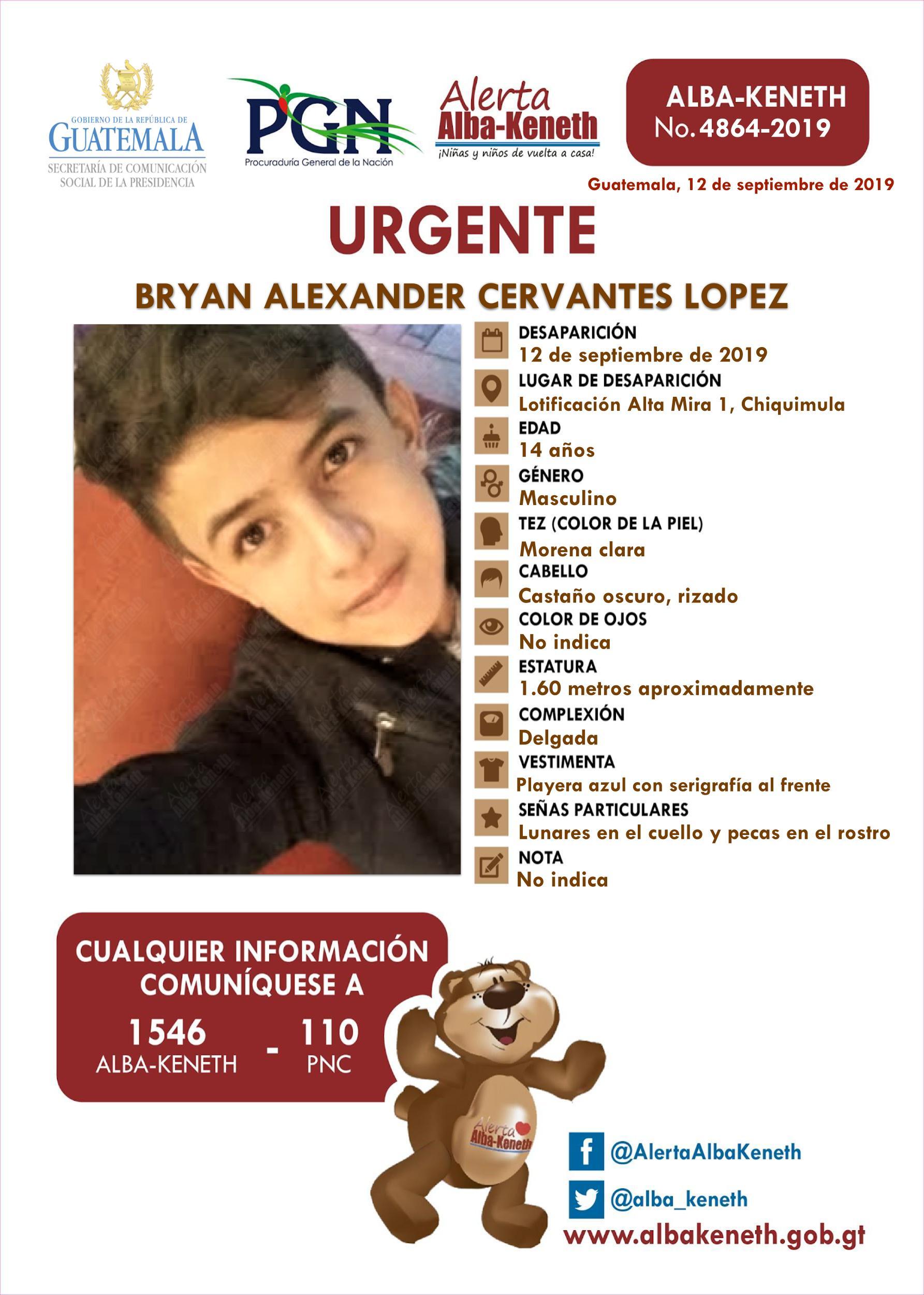Bryan Alexander Cervantes Lopez
