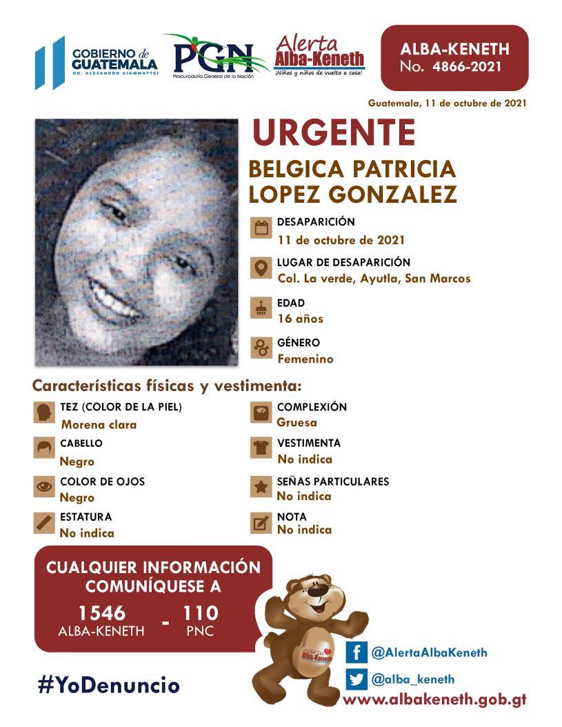 Belgica Patricia Lopez Gonzalez