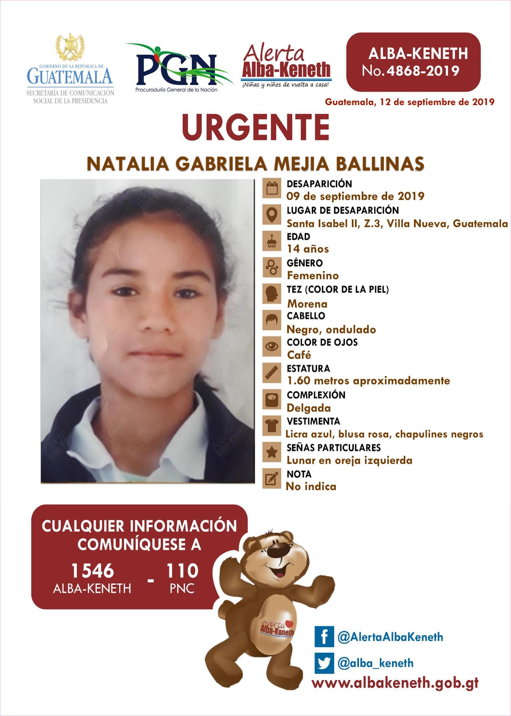 Natalia Gabriela Mejia Ballinas