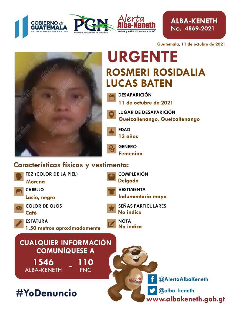 Rosmeri Rosidalia Lucas Baten